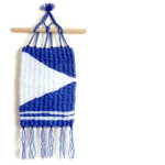Blue and White Nautical Themed Peg Loom Woven Wall Hanging by Eliston Button - About Me at www.elistonbutton.com - Eliston Button - That Crafty Kid – Art, Design, Craft & Adventure.