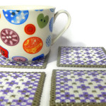Handmade Square Patterned Picture Bead Coasters by Eliston Button - About Me at www.elistonbutton.com - Eliston Button - That Crafty Kid – Art, Design, Craft & Adventure.