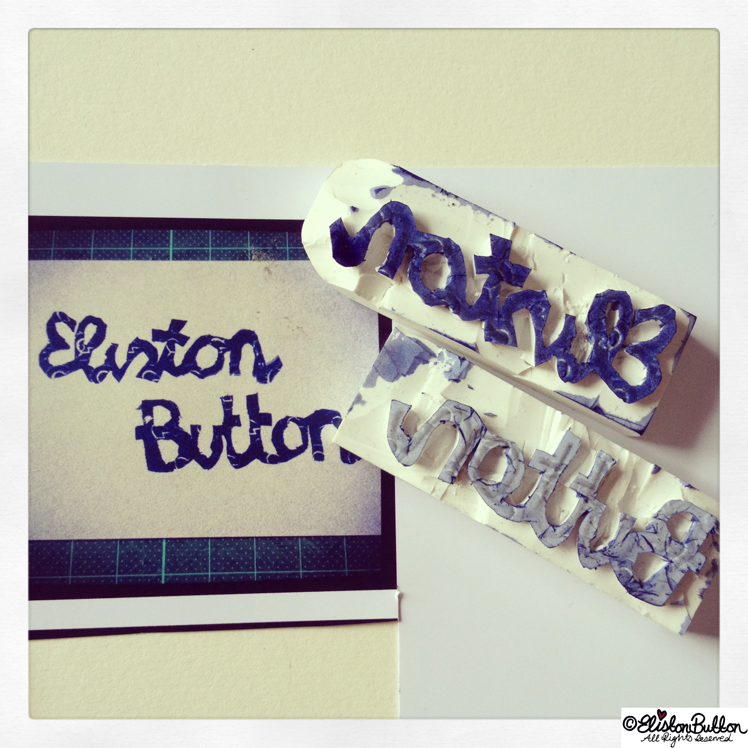 Eliston Button Hand-carved Stamp - Hand Carved Rubber Stamps at www.elistonbutton.com - Eliston Button - That Crafty Kid – Art, Design, Craft & Adventure.