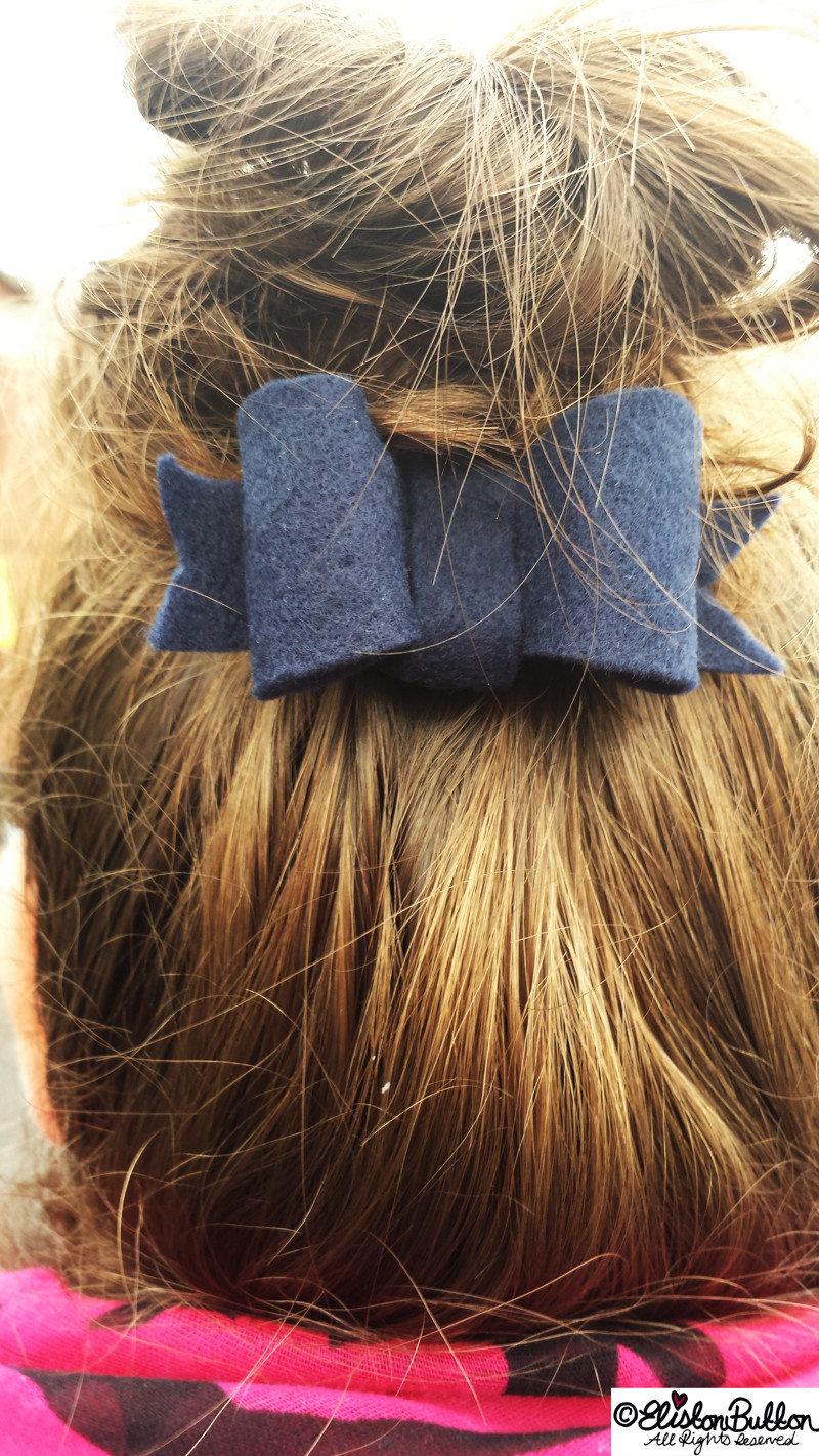 Messy Buns and Handmade Hair Bows - Hello Winter... at www.elistonbutton.com - Eliston Button - That Crafty Kid – Art, Design, Craft & Adventure.