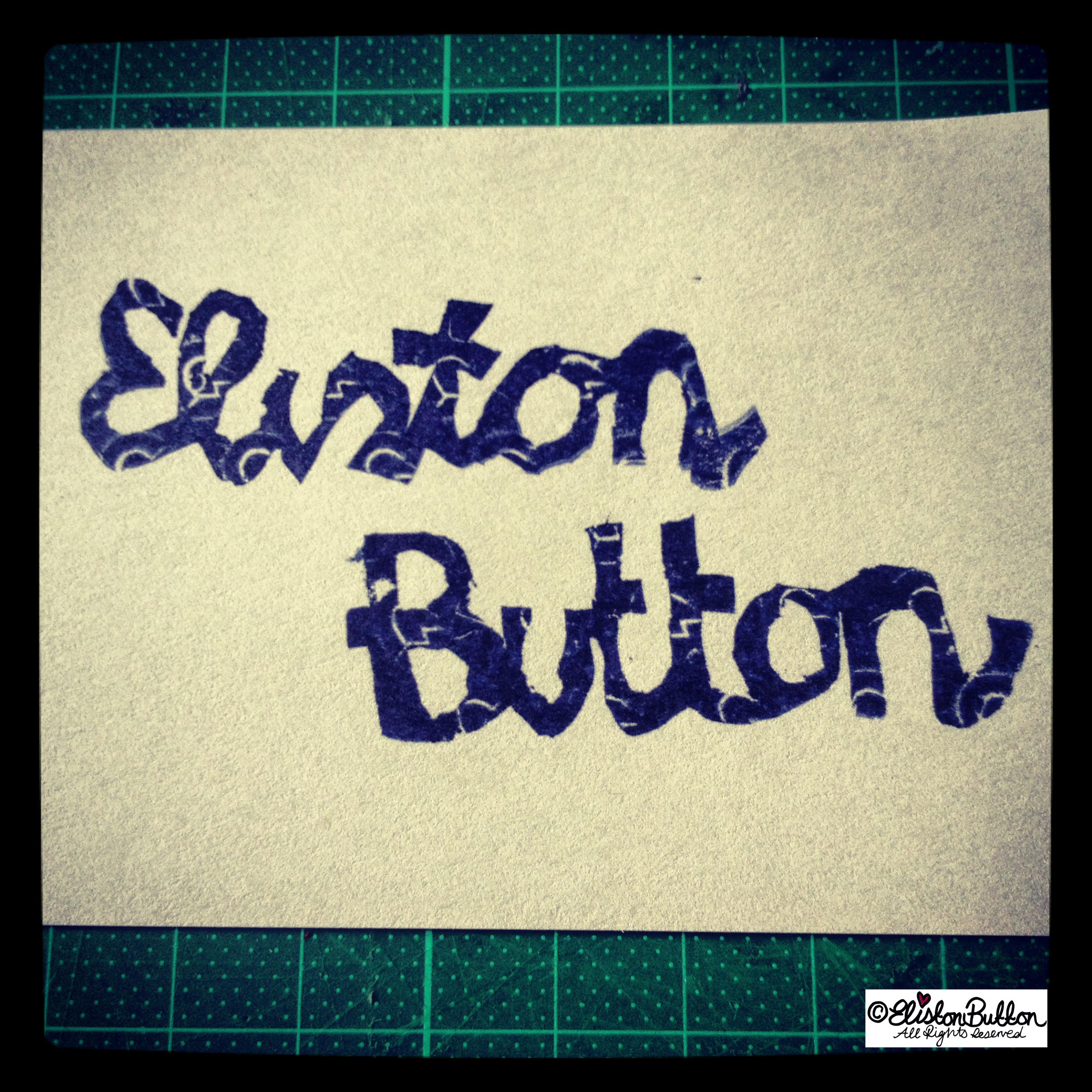 Eliston Button Inked Stamp - Hand Carved Rubber Stamps at www.elistonbutton.com - Eliston Button - That Crafty Kid – Art, Design, Craft & Adventure.