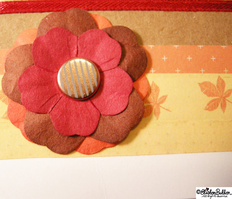 Red and Brown Autumn Paper Flower Embellishment - An Autumn Anniversary at www.elistonbutton.com - Eliston Button - That Crafty Kid – Art, Design, Craft & Adventure.