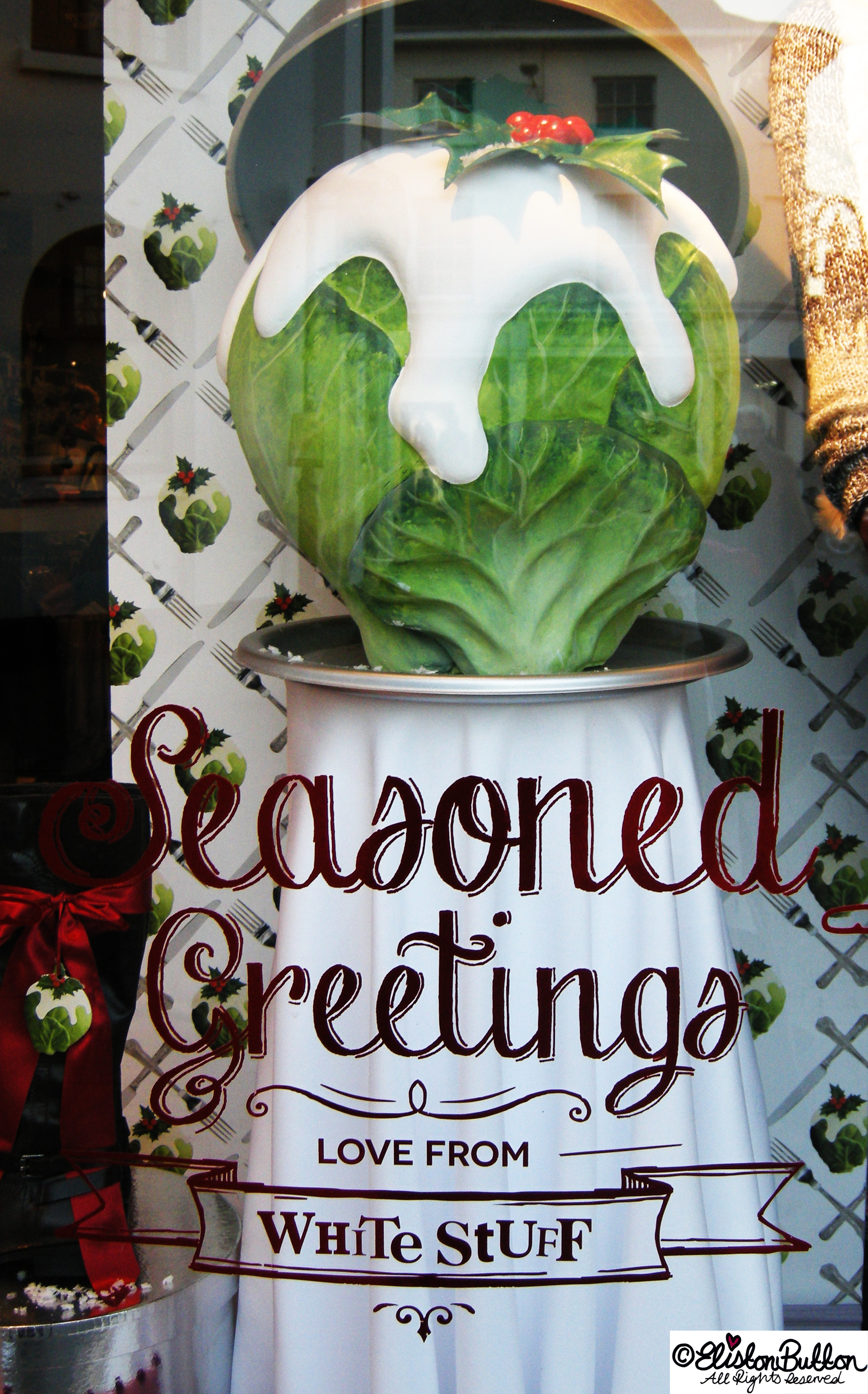 Giant Sprout Seasoned Greetings Christmas Window Display - Hello Winter... at www.elistonbutton.com - Eliston Button - That Crafty Kid – Art, Design, Craft & Adventure.