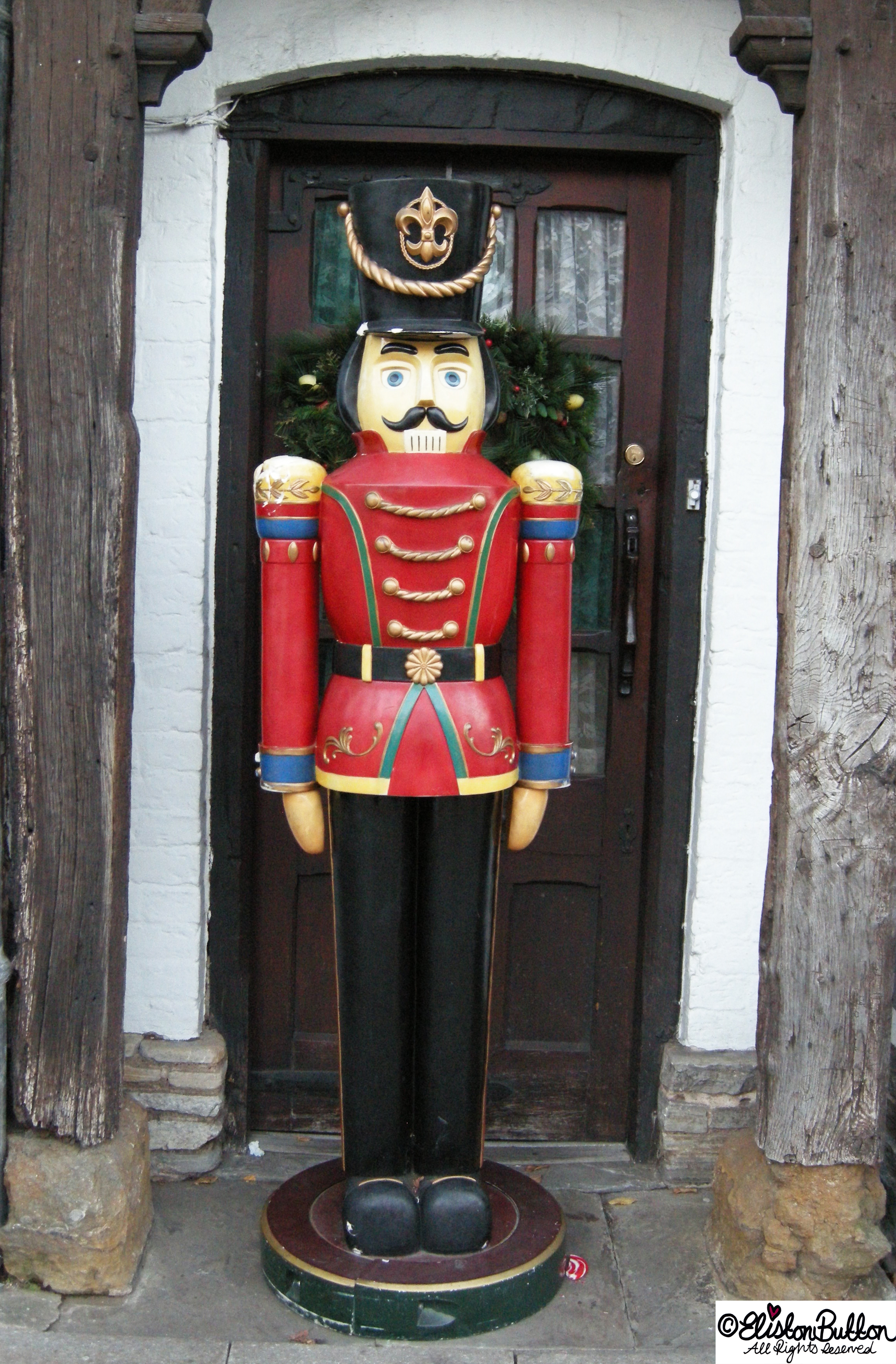 Nutcracker Statue in Stratford-upon-Avon - Hello Winter... at www.elistonbutton.com - Eliston Button - That Crafty Kid – Art, Design, Craft & Adventure.
