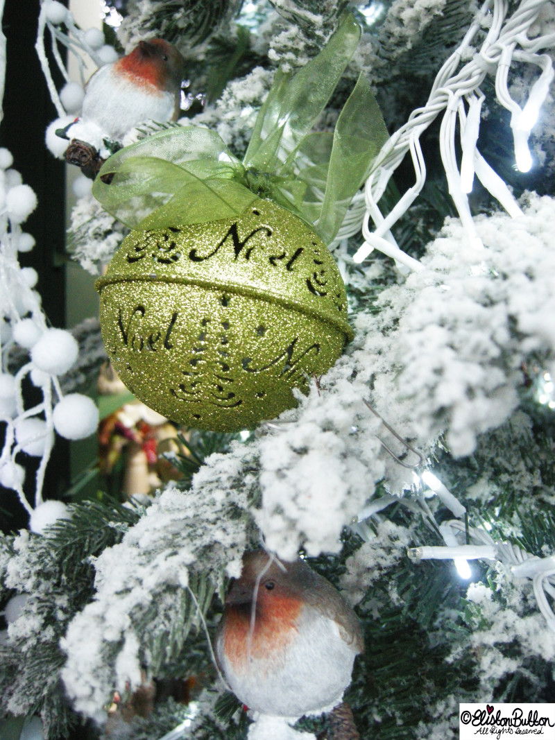 Green Glittery Christmas Bauble - Hello Winter... at www.elistonbutton.com - Eliston Button - That Crafty Kid – Art, Design, Craft & Adventure.