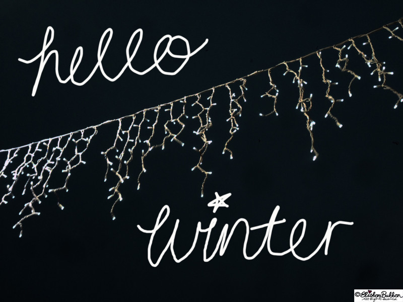 Hello Winter - Christmas Lights and Hand Lettering - Hello Winter... at www.elistonbutton.com - Eliston Button - That Crafty Kid – Art, Design, Craft & Adventure.