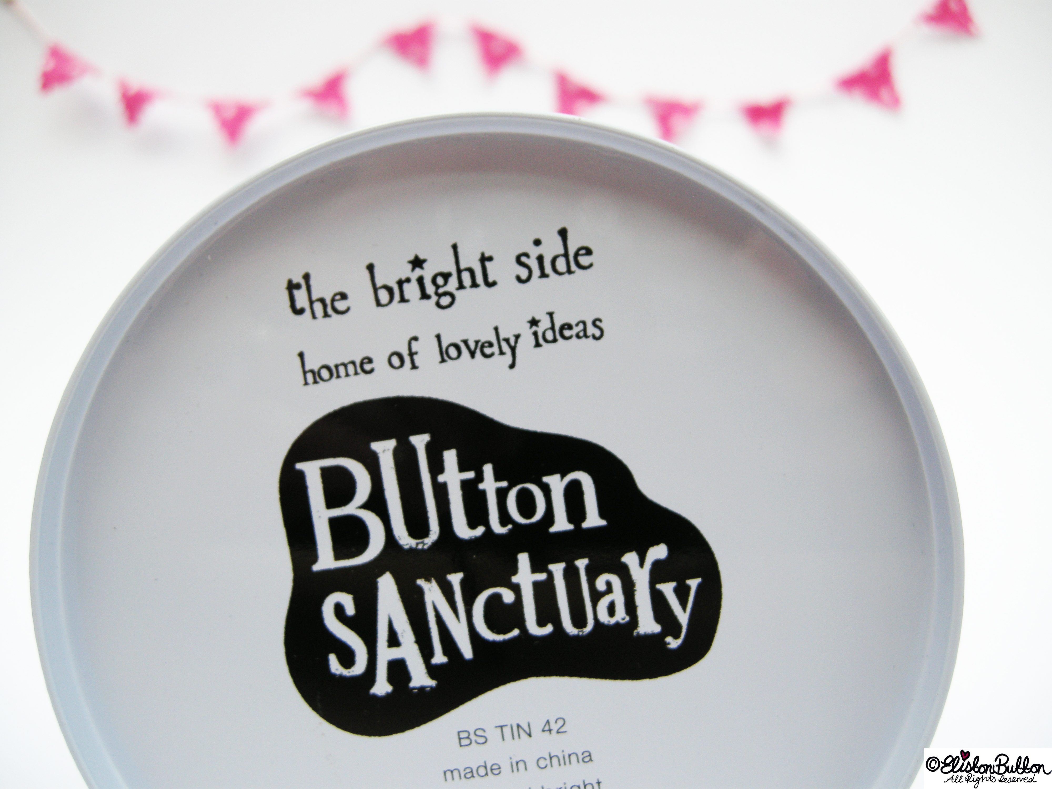 Don't Worry Mr Button I Will Save You Button Tin by The Bright Side - Underside Logo - Don't Worry Mr Button I Will Save You at www.elistonbutton.com - Eliston Button - That Crafty Kid – Art, Design, Craft & Adventure.