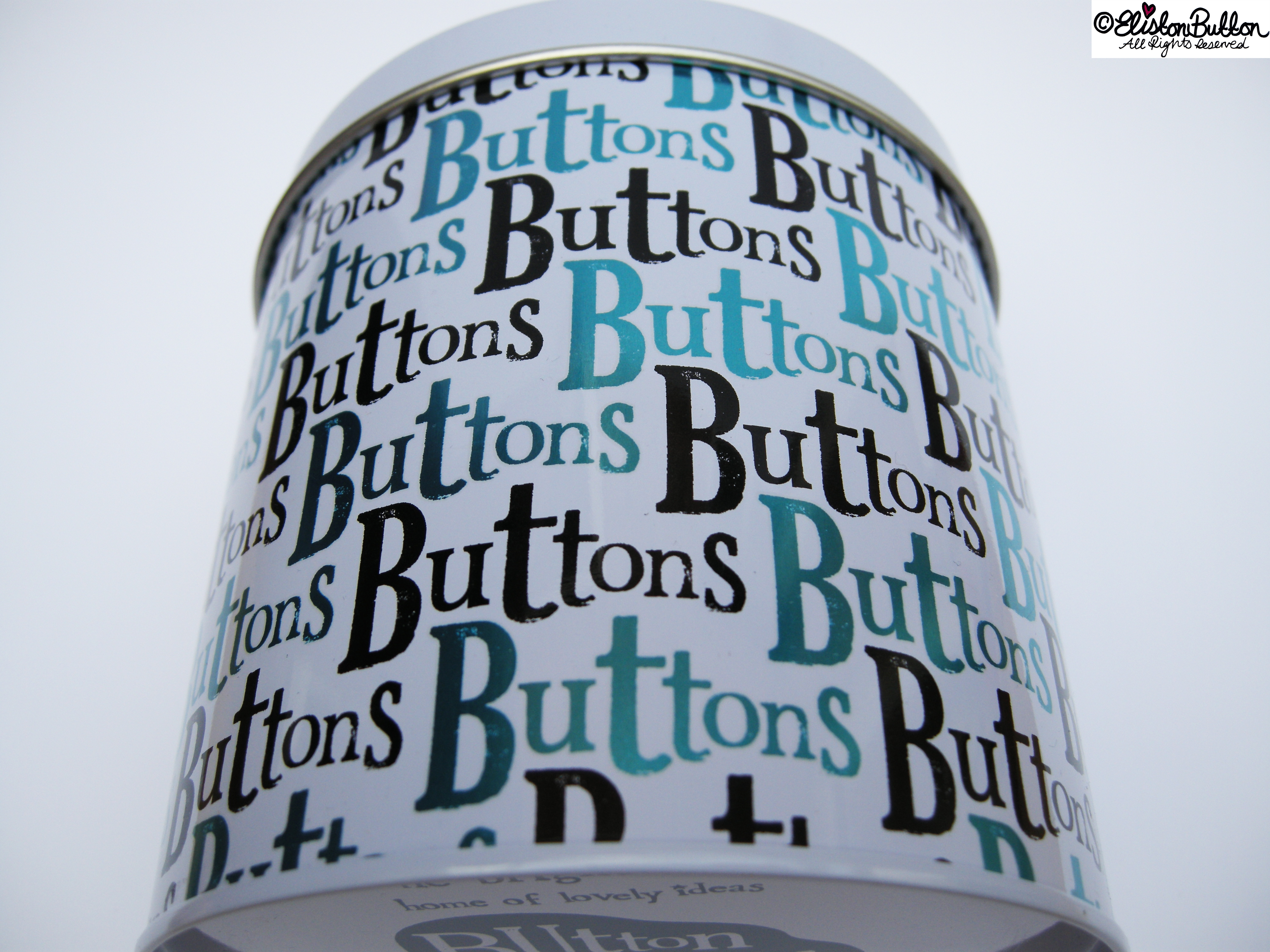Don't Worry Mr Button I Will Save You Button Tin by The Bright Side - Typography - Don't Worry Mr Button I Will Save You at www.elistonbutton.com - Eliston Button - That Crafty Kid – Art, Design, Craft & Adventure.