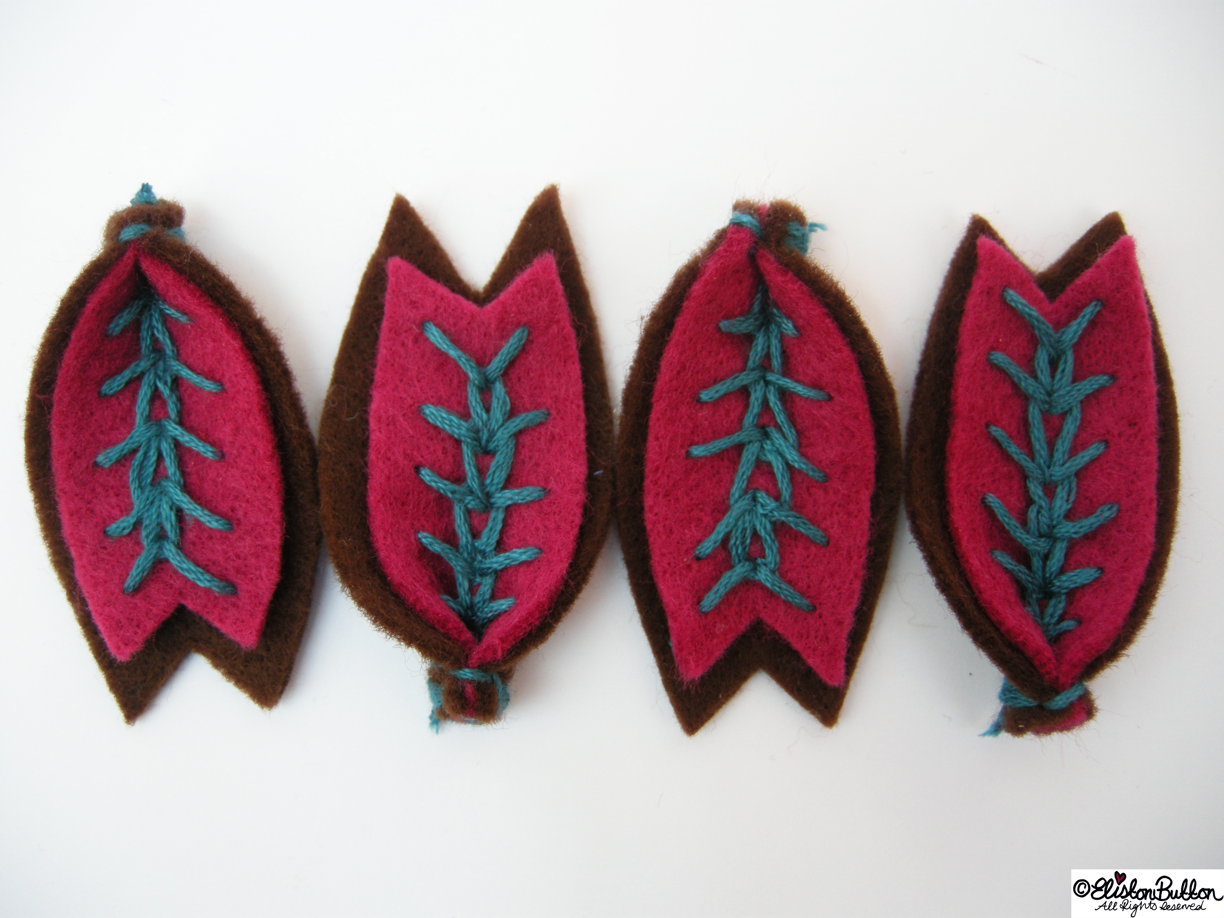 Wheat Ear Stitched Teal Petals - 27 Before 27 - Raspberry and Chocolate at www.elistonbutton.com - Eliston Button - That Crafty Kid – Art, Design, Craft & Adventure.