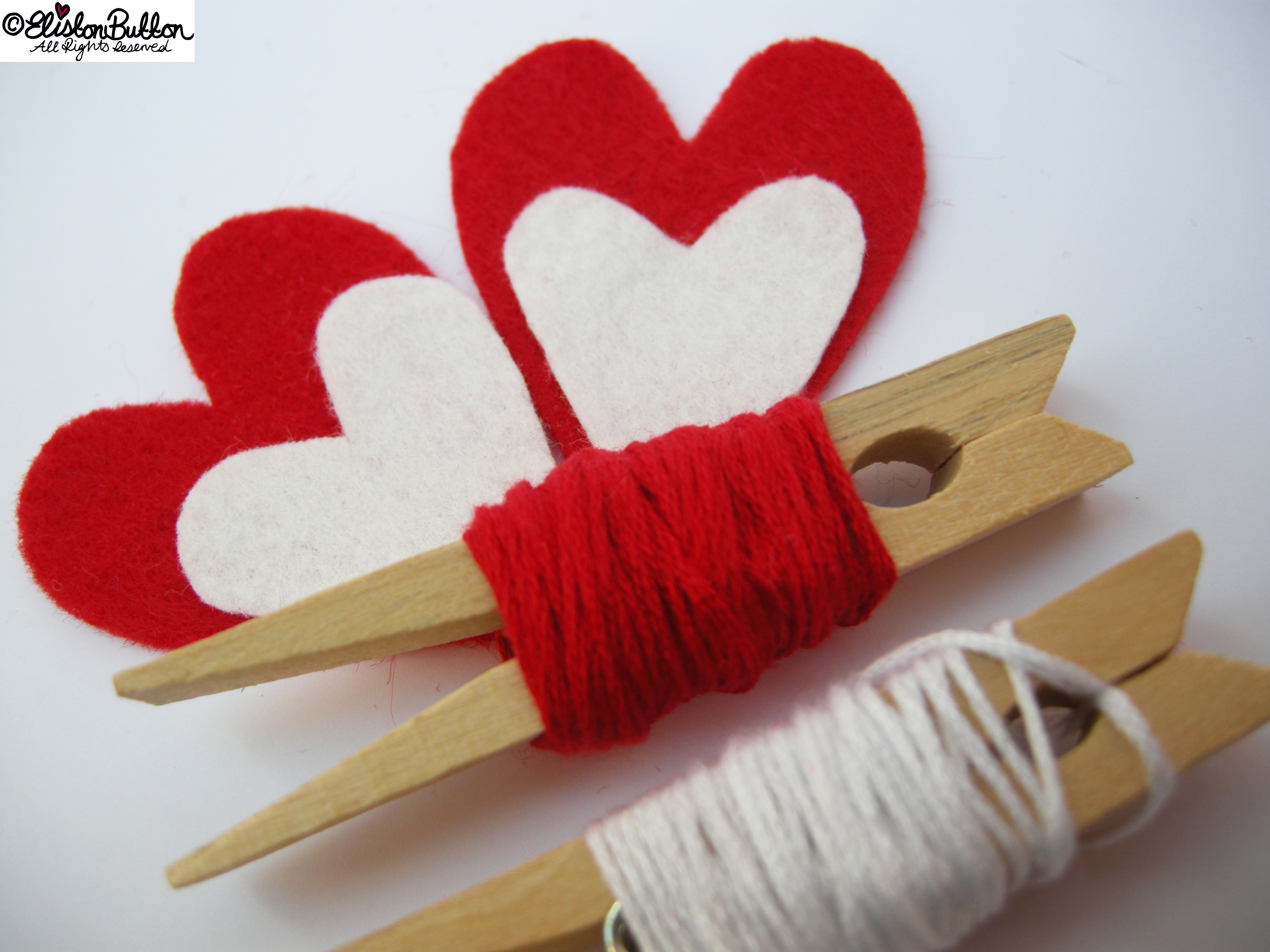Red and White Felt and Embroidery Thread Colour Palette - 27 Before 27 - Hello Lover... at www.elistonbutton.com - Eliston Button - That Crafty Kid – Art, Design, Craft & Adventure.