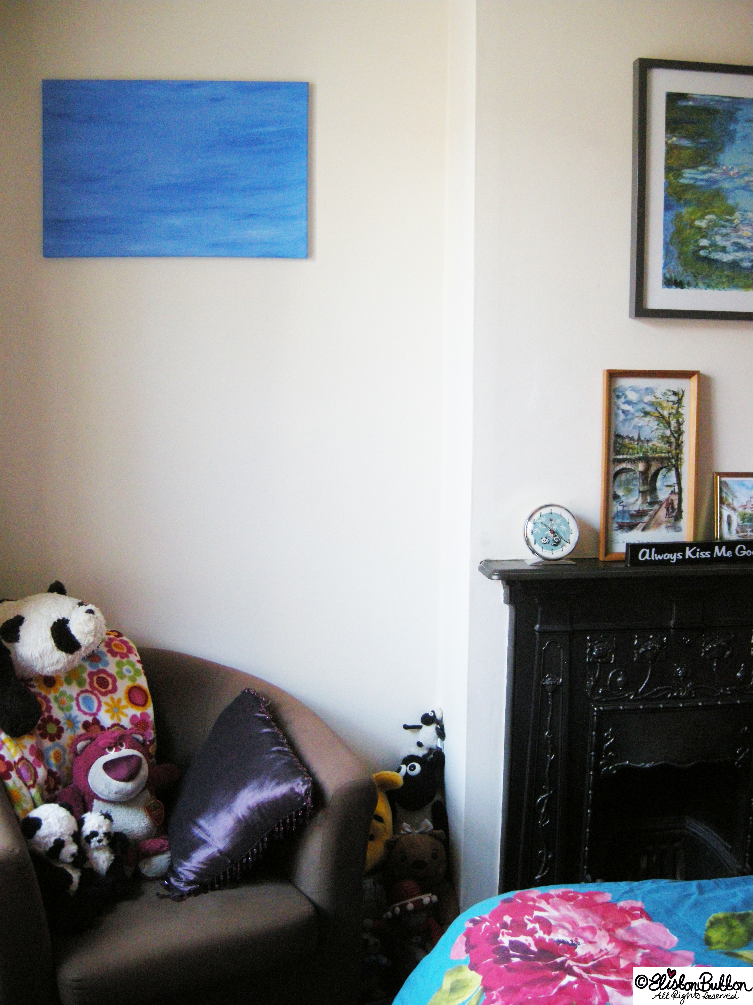 A Cosy Bedroom Corner - Workspace Wednesday - Bedroom Makeover at www.elistonbutton.com - Eliston Button - That Crafty Kid – Art, Design, Craft & Adventure.