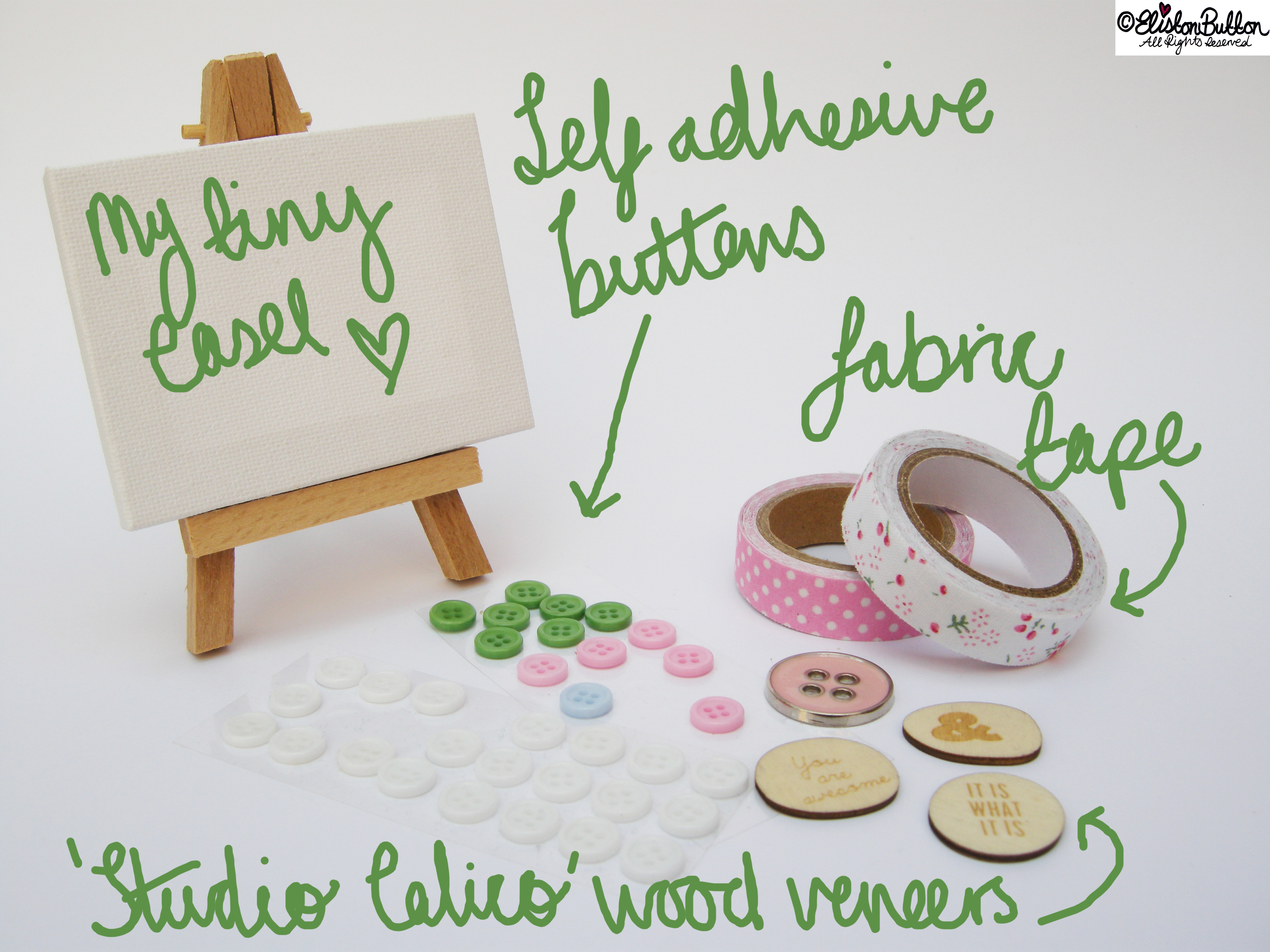 You Will Need... - Mini Easel Tutorial at www.elistonbutton.com - Eliston Button - That Crafty Kid – Art, Design, Craft & Adventure.
