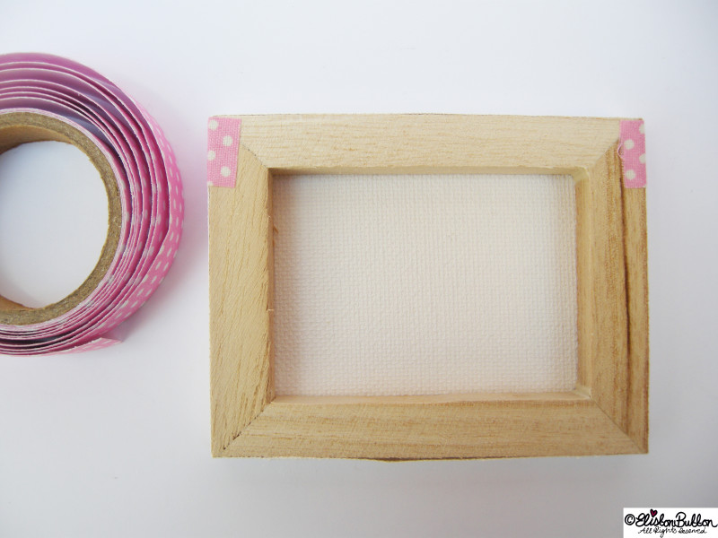 Tidying Up the Back of the Canvas - Mini Easel Tutorial at www.elistonbutton.com - Eliston Button - That Crafty Kid – Art, Design, Craft & Adventure.