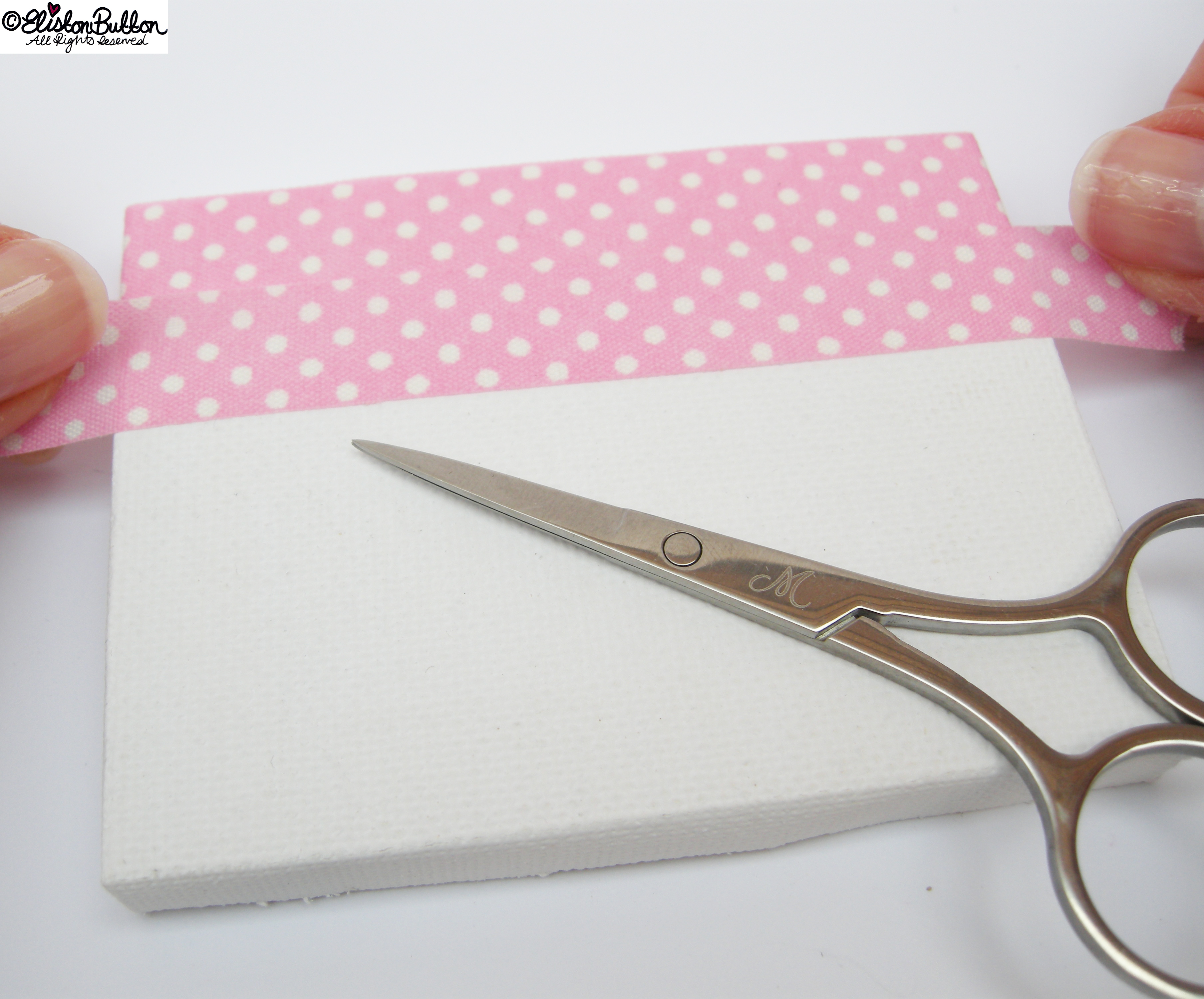 Second Strip of Fabric Tape - Mini Easel Tutorial at www.elistonbutton.com - Eliston Button - That Crafty Kid – Art, Design, Craft & Adventure.