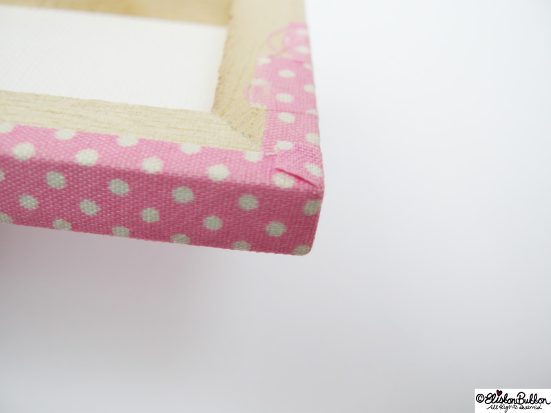 Neat and Tidy Canvas Corners - Mini Easel Tutorial at www.elistonbutton.com - Eliston Button - That Crafty Kid – Art, Design, Craft & Adventure.