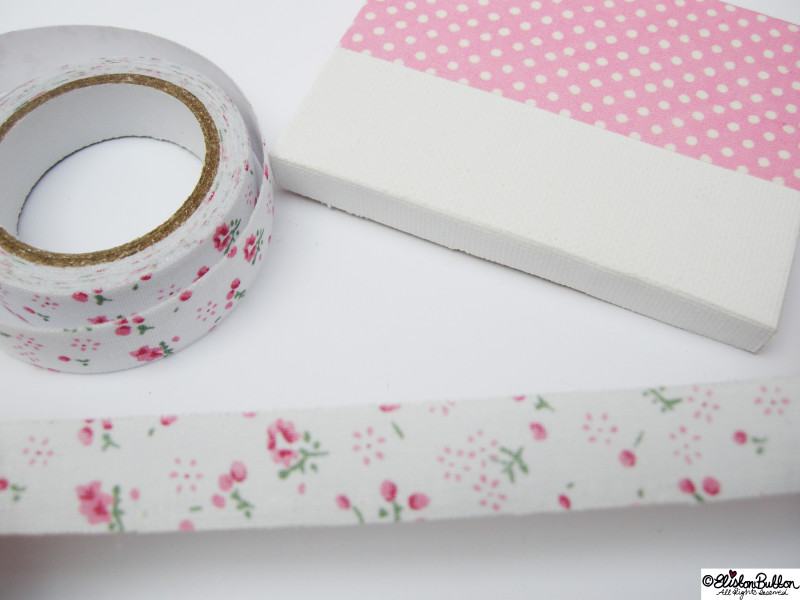 Selecting a Different Fabric Tape - Mini Easel Tutorial at www.elistonbutton.com - Eliston Button - That Crafty Kid – Art, Design, Craft & Adventure.