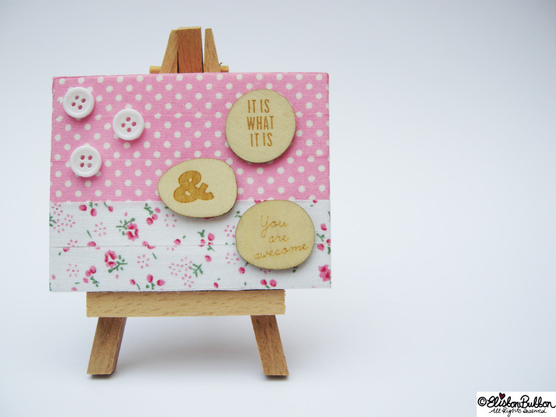 Decorated Mini Canvas on a Tiny Wooden Easel - Mini Easel Tutorial at www.elistonbutton.com - Eliston Button - That Crafty Kid – Art, Design, Craft & Adventure.
