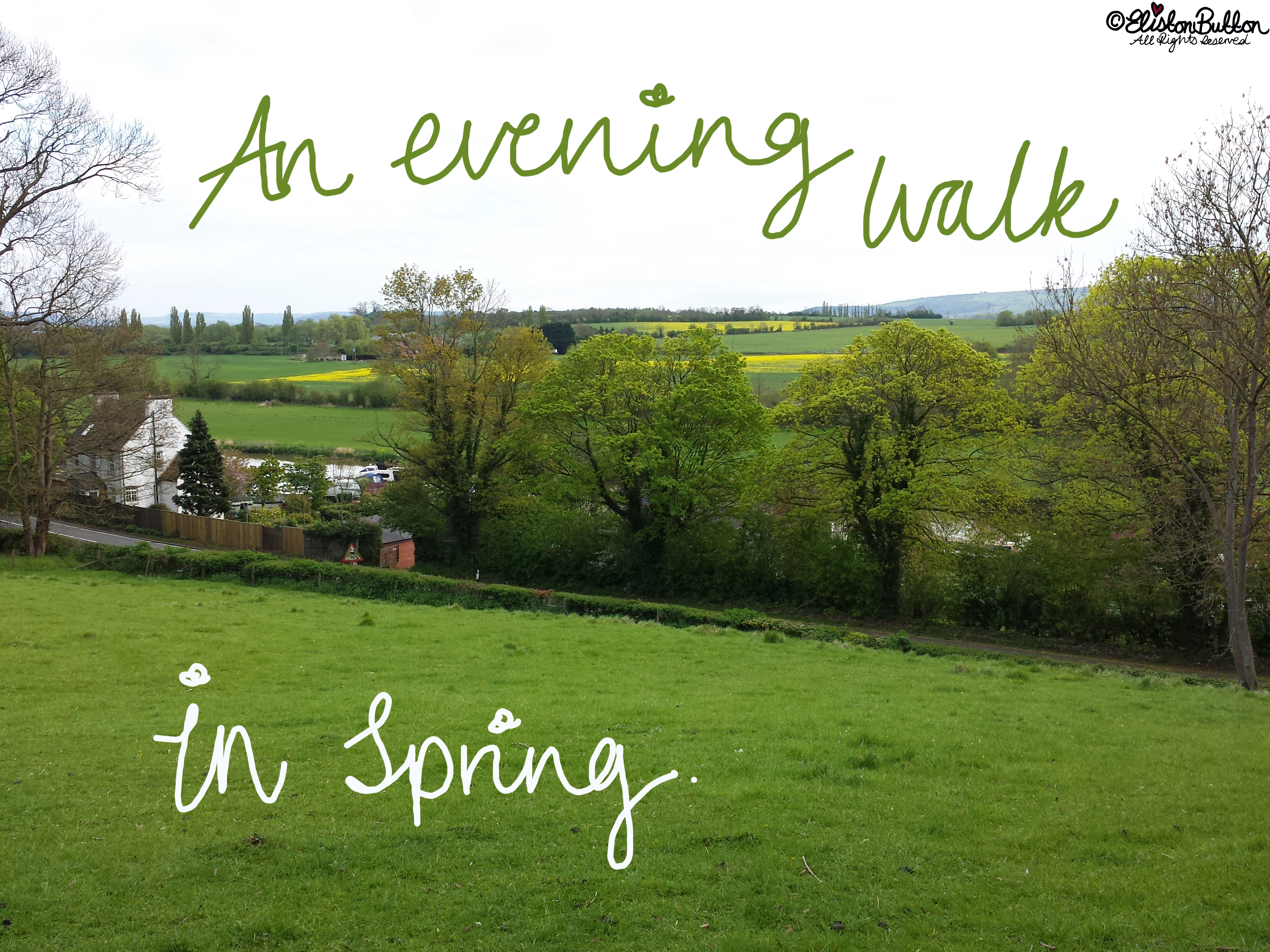 An Evening Walk in Spring at www.elistonbutton.com - Eliston Button - That Crafty Kid – Art, Design, Craft & Adventure.