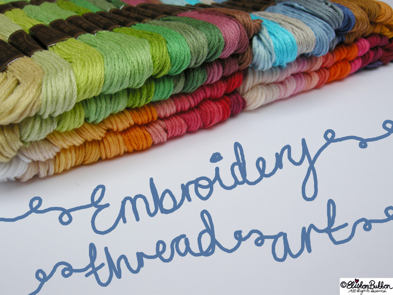 Embroidery Thread Art at www.elistonbutton.com - Eliston Button - That Crafty Kid – Art, Design, Craft & Adventure.