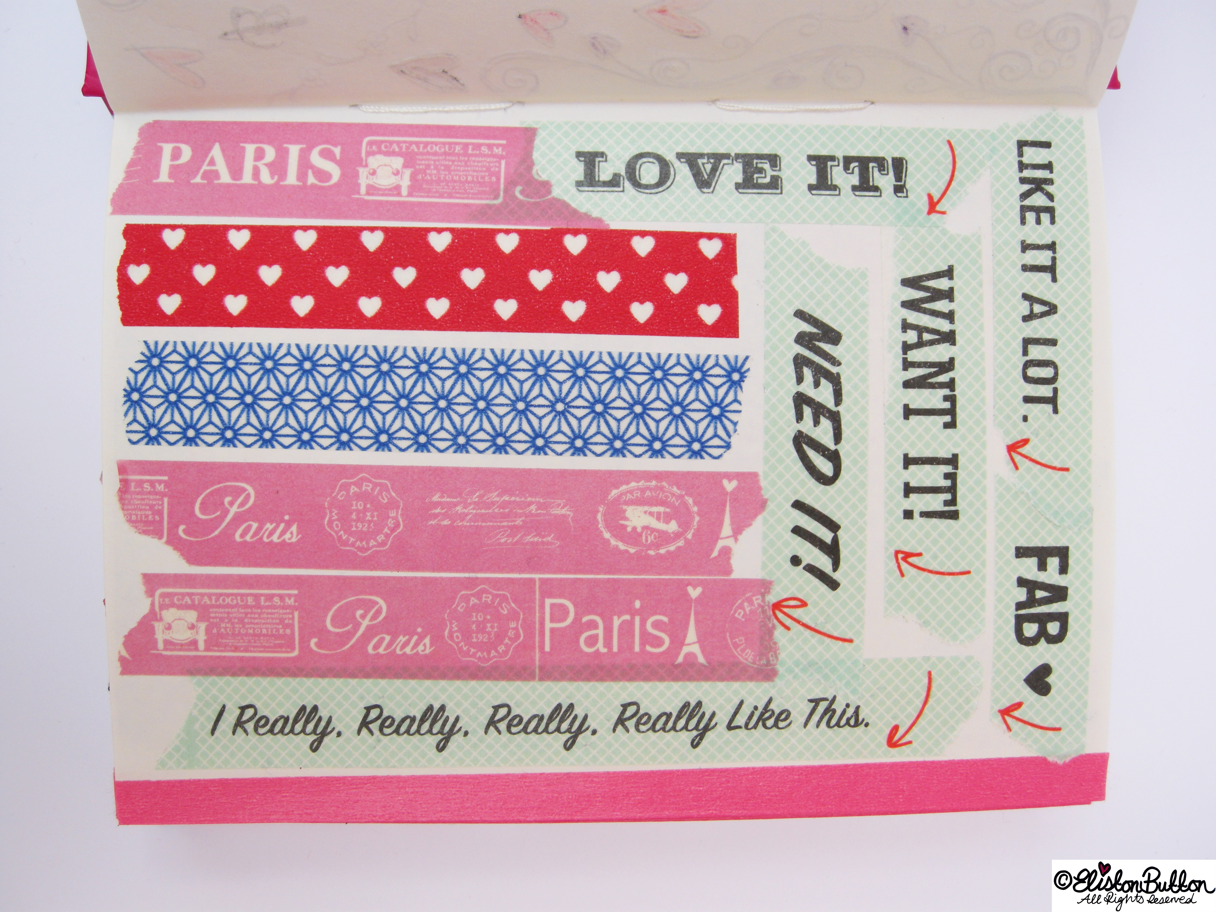 Washi Tape Documenting - Pink,, Pattern and Paris - My Washi Tape Collection at www.elistonbutton.com - Eliston Button - That Crafty Kid – Art, Design, Craft & Adventure.