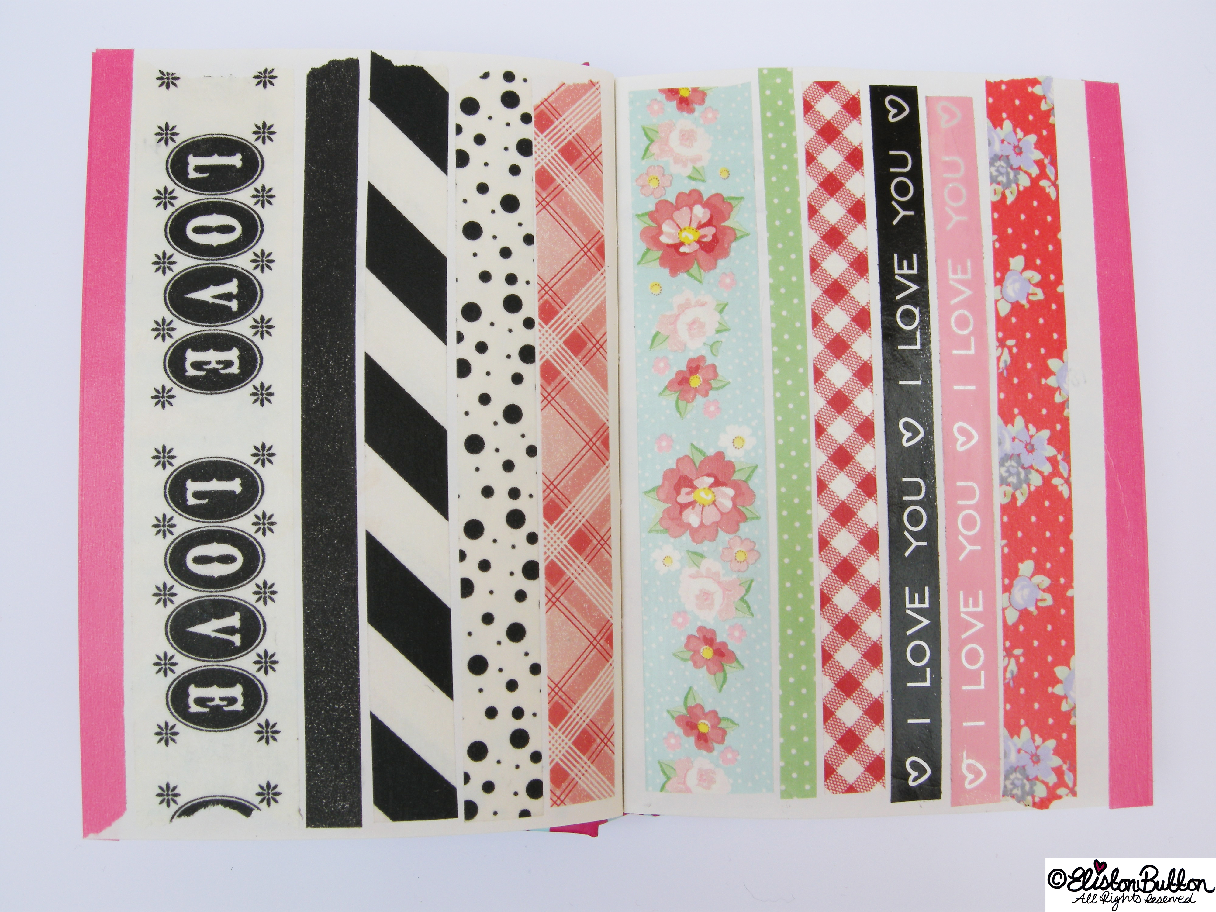 Monochrome and Floral Washi Tapes - My Washi Tape Collection at www.elistonbutton.com - Eliston Button - That Crafty Kid – Art, Design, Craft & Adventure.