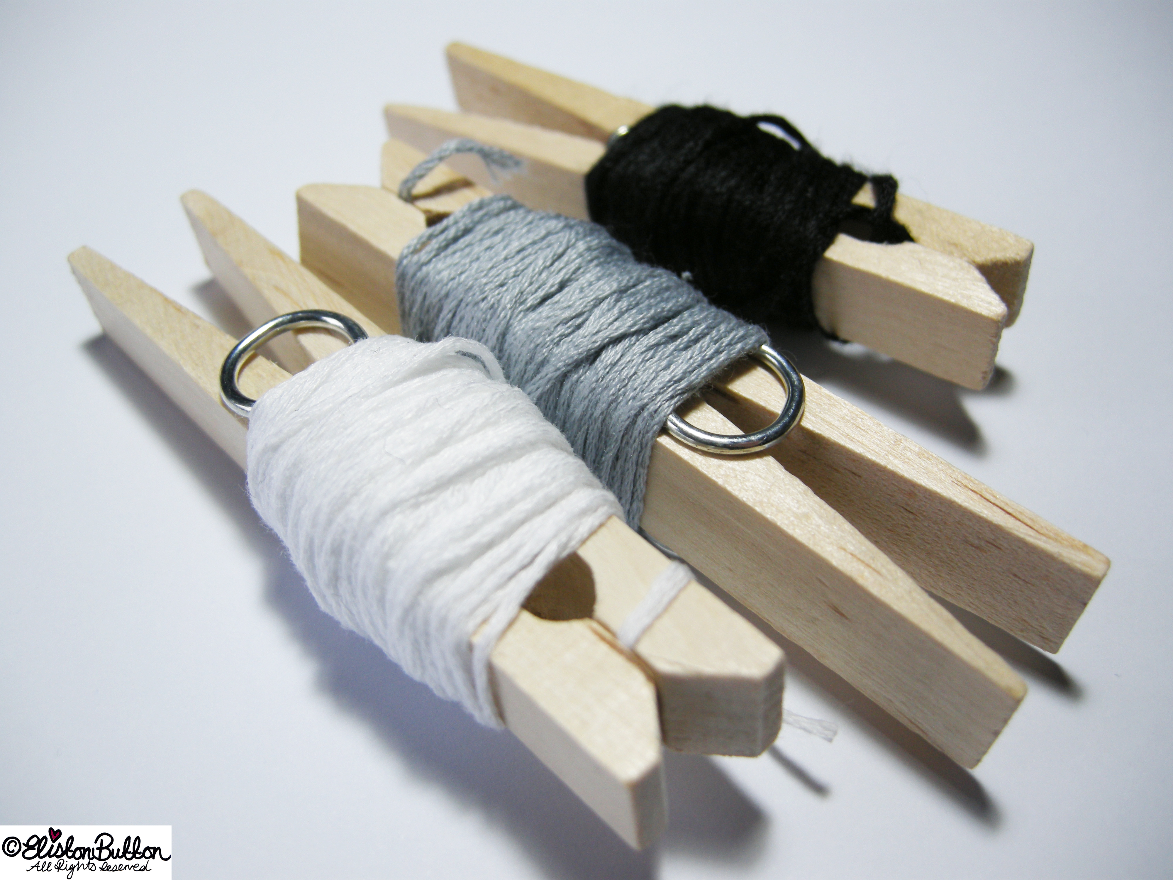 White, Grey and Black Embroidery Threads - 27 Before 27 – Monochrome at www.elistonbutton.com - Eliston Button - That Crafty Kid – Art, Design, Craft & Adventure.