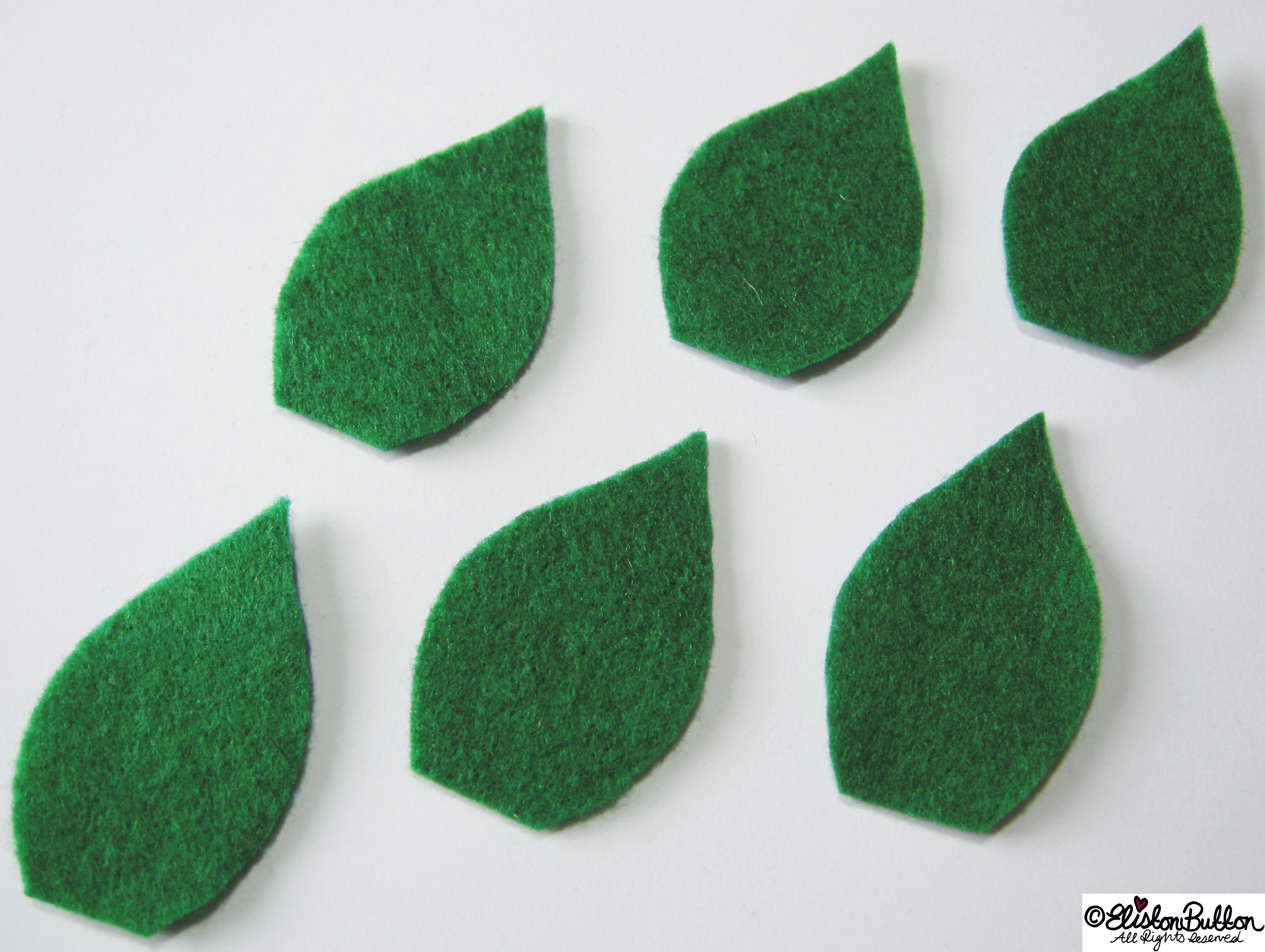 Green Felt Leaf Shapes - 27 Before 27 - Leafy Greens at www.elistonbutton.com - Eliston Button - That Crafty Kid – Art, Design, Craft & Adventure.