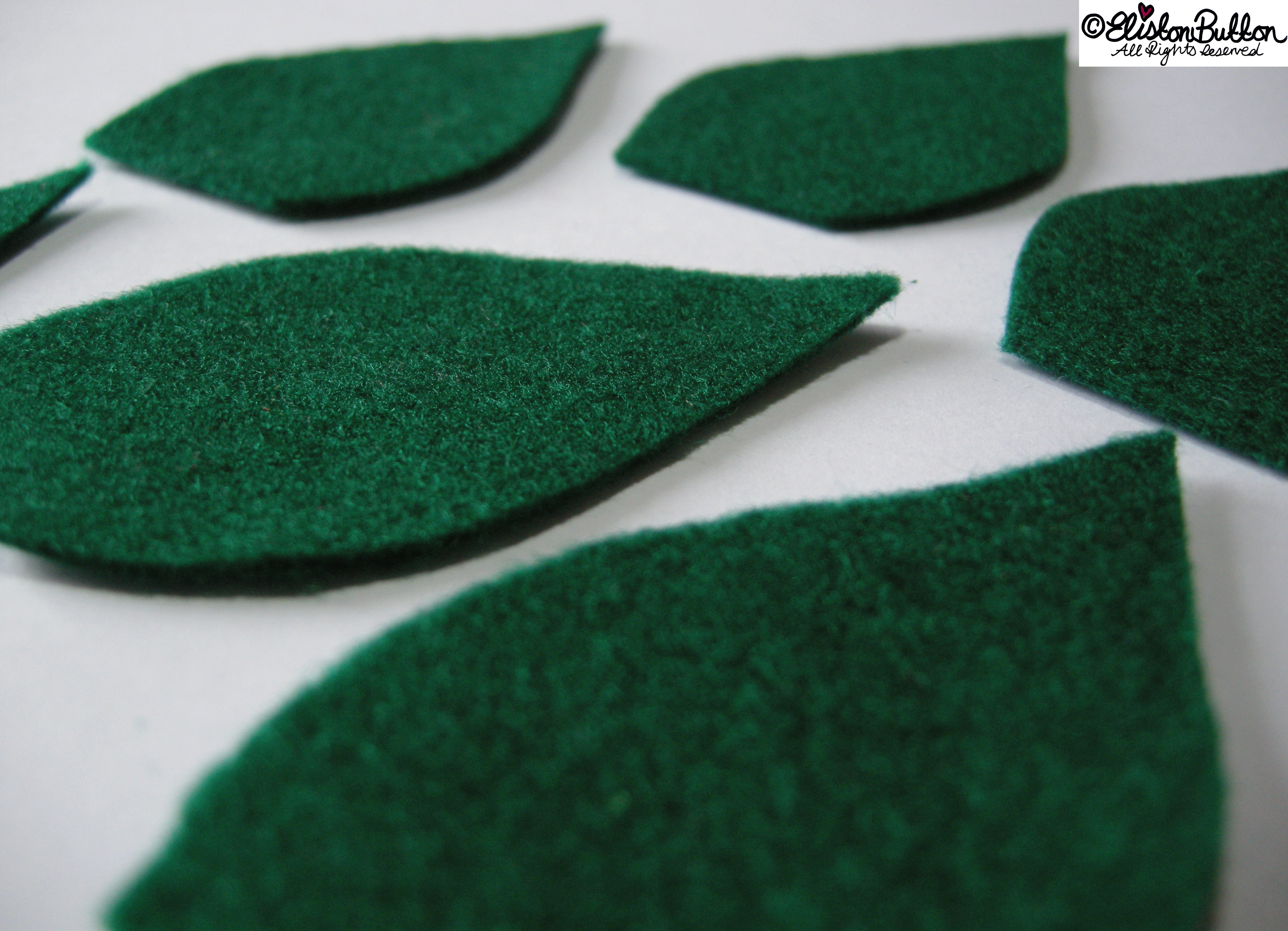 Dark Green Felt Leaf Shapes - 27 Before 27 - Leafy Greens at www.elistonbutton.com - Eliston Button - That Crafty Kid – Art, Design, Craft & Adventure.