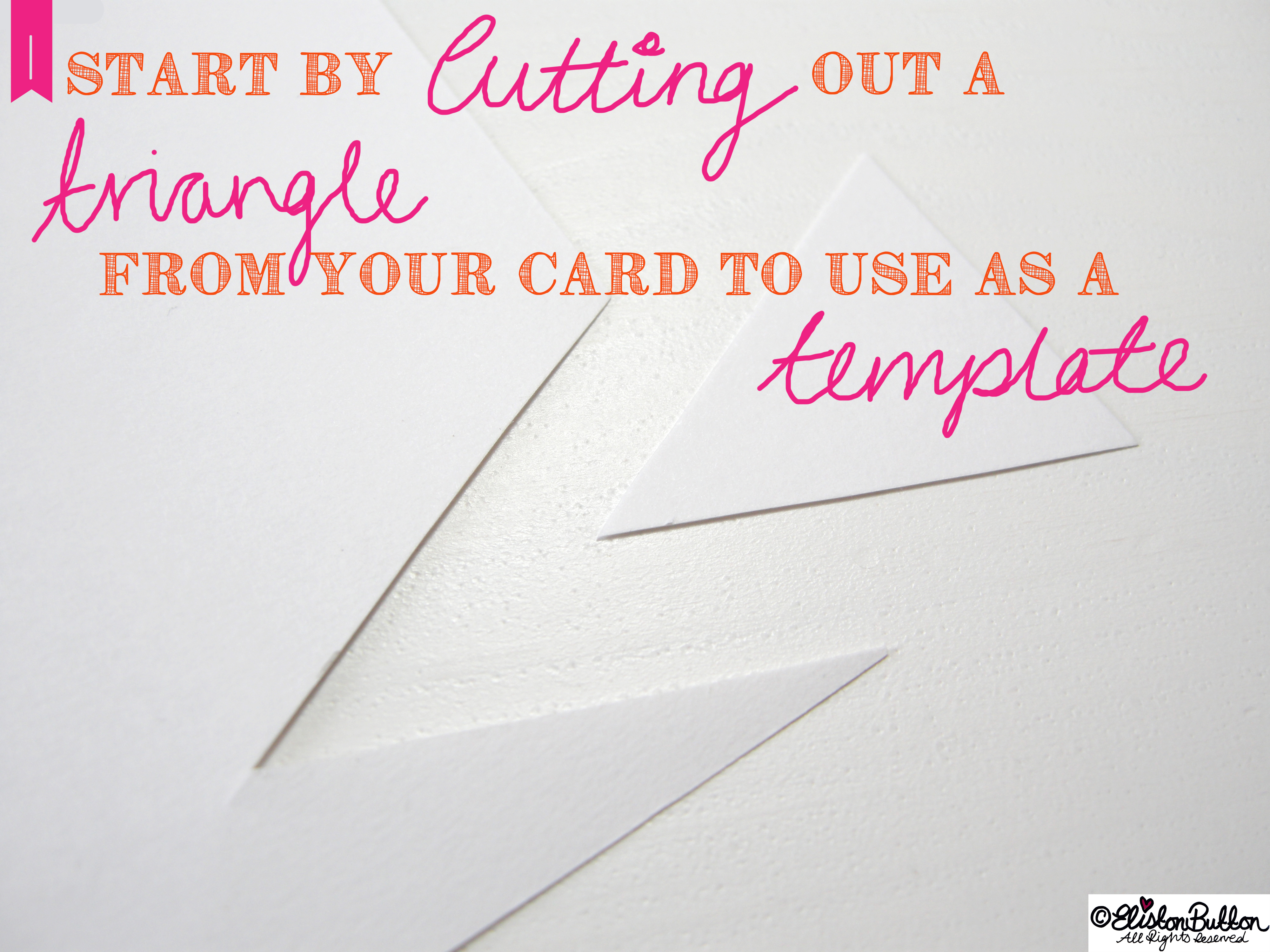 Cutting Out a Card Template - Washi Tape Bunting Tutorial at www.elistonbutton.com - Eliston Button - That Crafty Kid – Art, Design, Craft & Adventure.