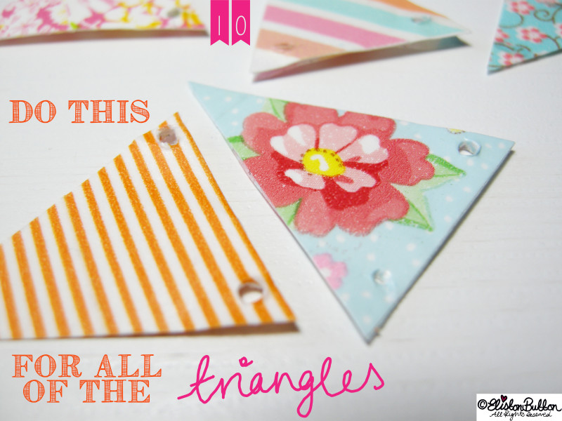Pretty Bunting Mini Washi Tape Triangles - Washi Tape Bunting Tutorial at www.elistonbutton.com - Eliston Button - That Crafty Kid – Art, Design, Craft & Adventure.