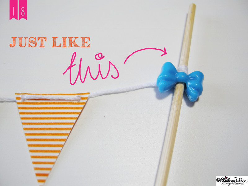 Just Like This - Washi Tape Bunting Tutorial at www.elistonbutton.com - Eliston Button - That Crafty Kid – Art, Design, Craft & Adventure.