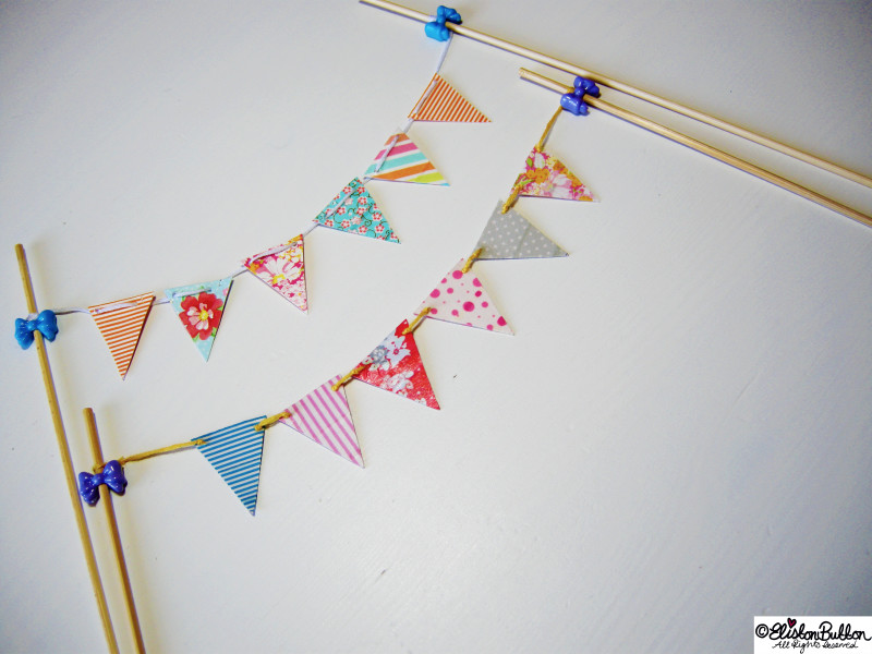 Mini Washi Tape Bunting - Colourful and Cute! - Washi Tape Bunting Tutorial at www.elistonbutton.com - Eliston Button - That Crafty Kid – Art, Design, Craft & Adventure.