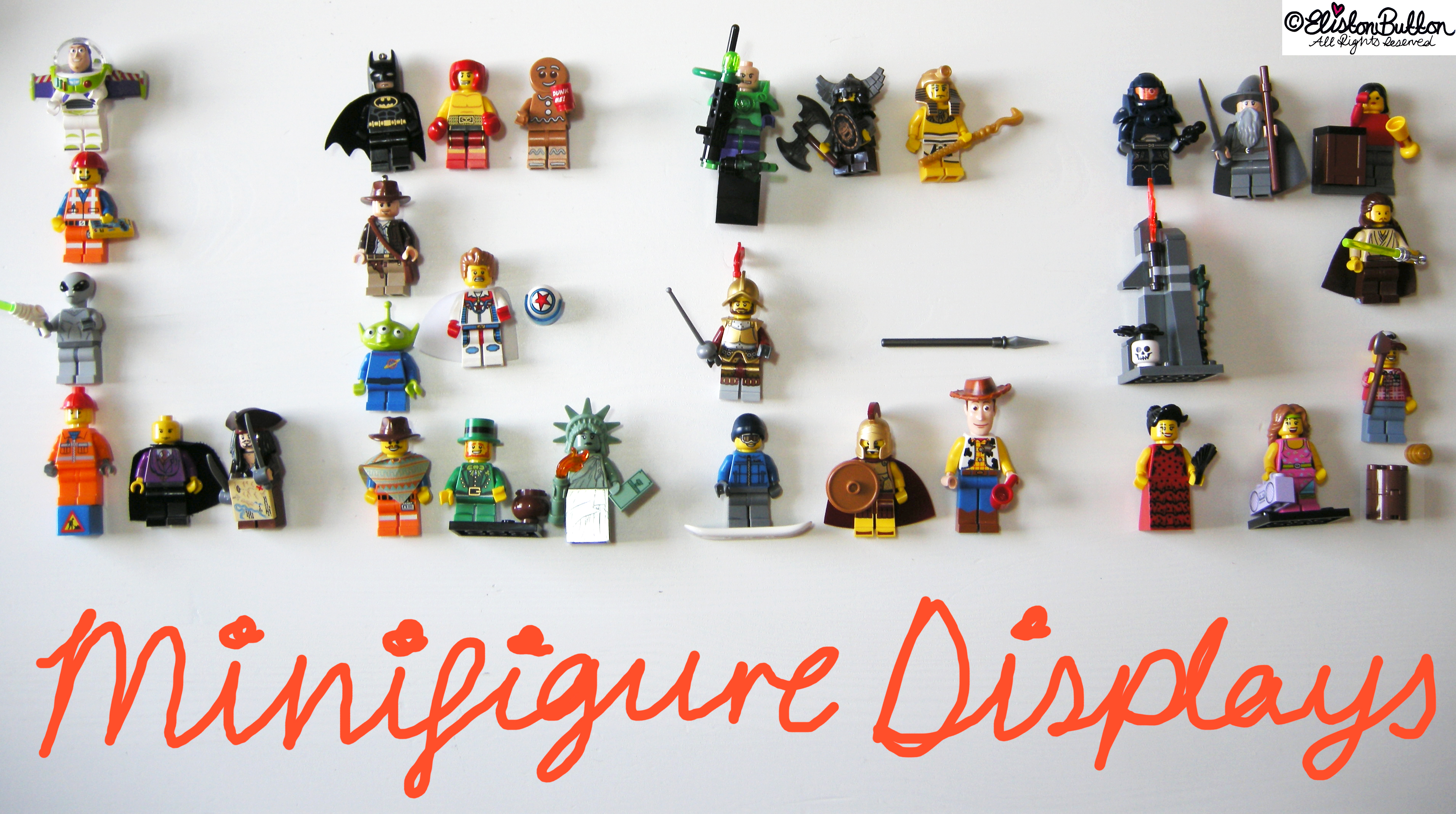 Lego Minifigure Displays at www.elistonbutton.com - Eliston Button - That Crafty Kid – Art, Design, Craft & Adventure.