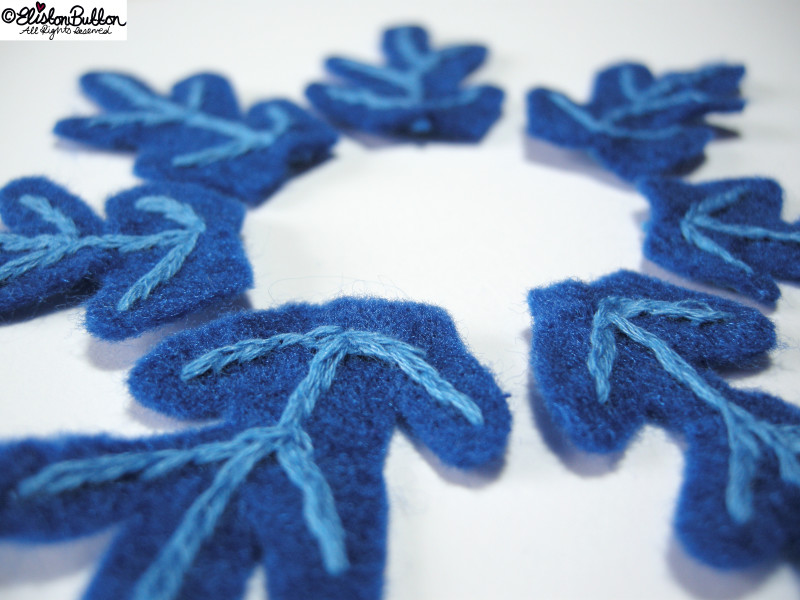 Blue Embroidered Felt Snowflake Petals - 27 Before 27 – Frozen at www.elistonbutton.com - Eliston Button - That Crafty Kid – Art, Design, Craft & Adventure.
