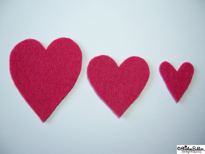 Pink Hand Cut Felt Hearts - 27 Before 27 - Pink Hearts at www.elistonbutton.com - Eliston Button - That Crafty Kid – Art, Design, Craft & Adventure.