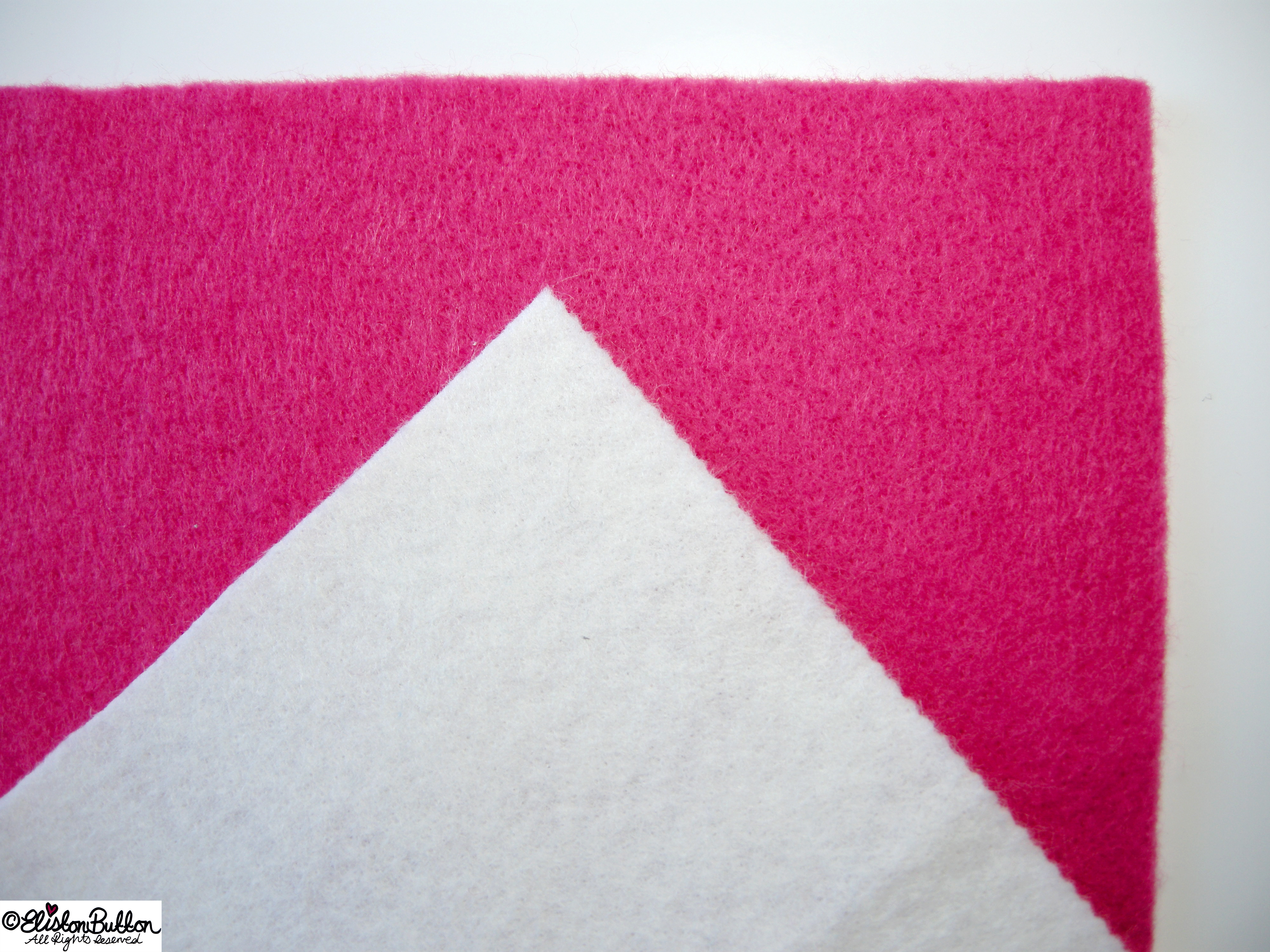 Hot Pink and Crisp White Felt Squares - 27 Before 27 - Zig-a-Zig-ah! at www.elistonbutton.com - Eliston Button - That Crafty Kid – Art, Design, Craft & Adventure.