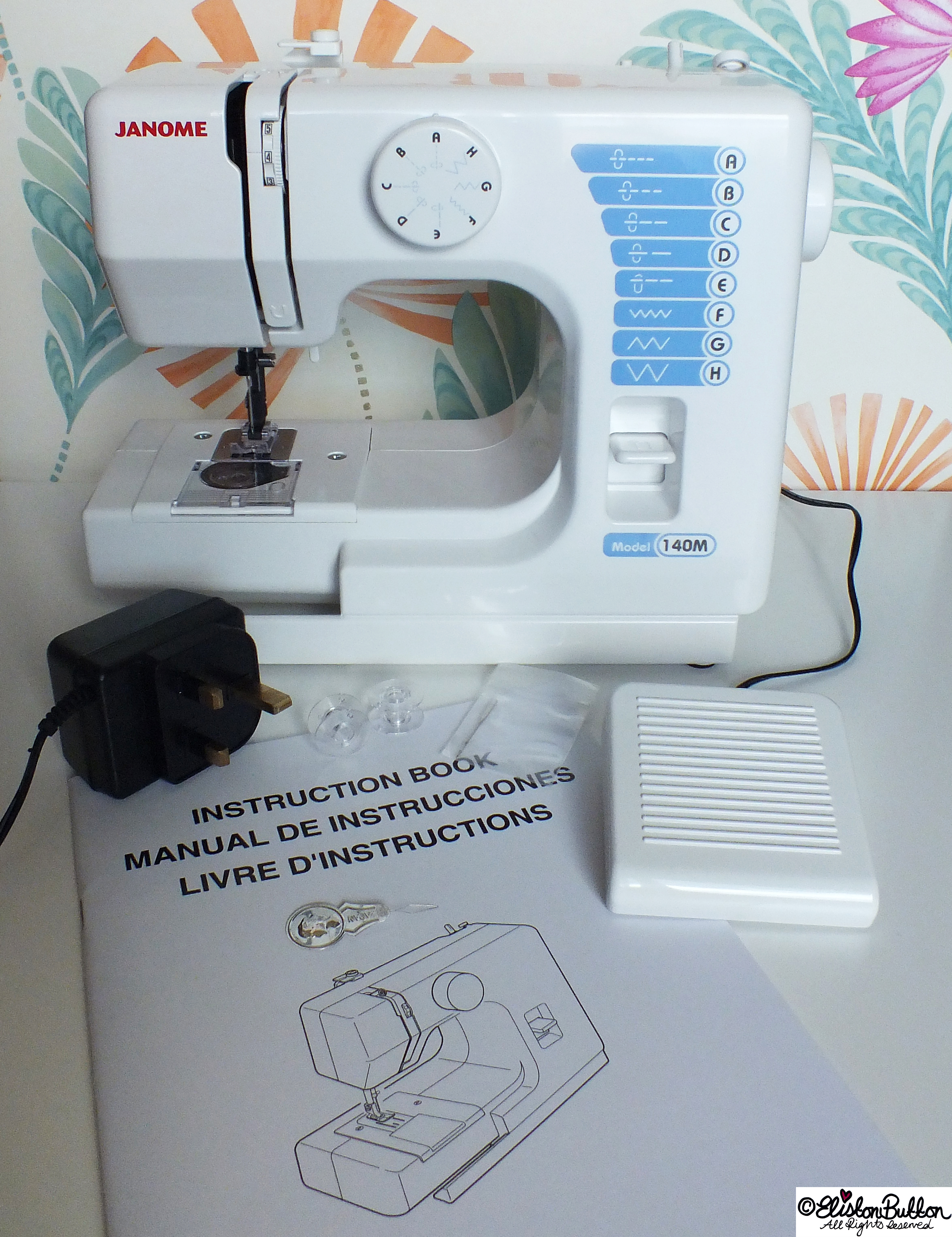 Janome 140M Mini Sewing Machine - Unboxed - Sew Good! – This Hobbycraft Sewing Machine at www.elistonbutton.com - Eliston Button - That Crafty Kid – Art, Design, Craft & Adventure.