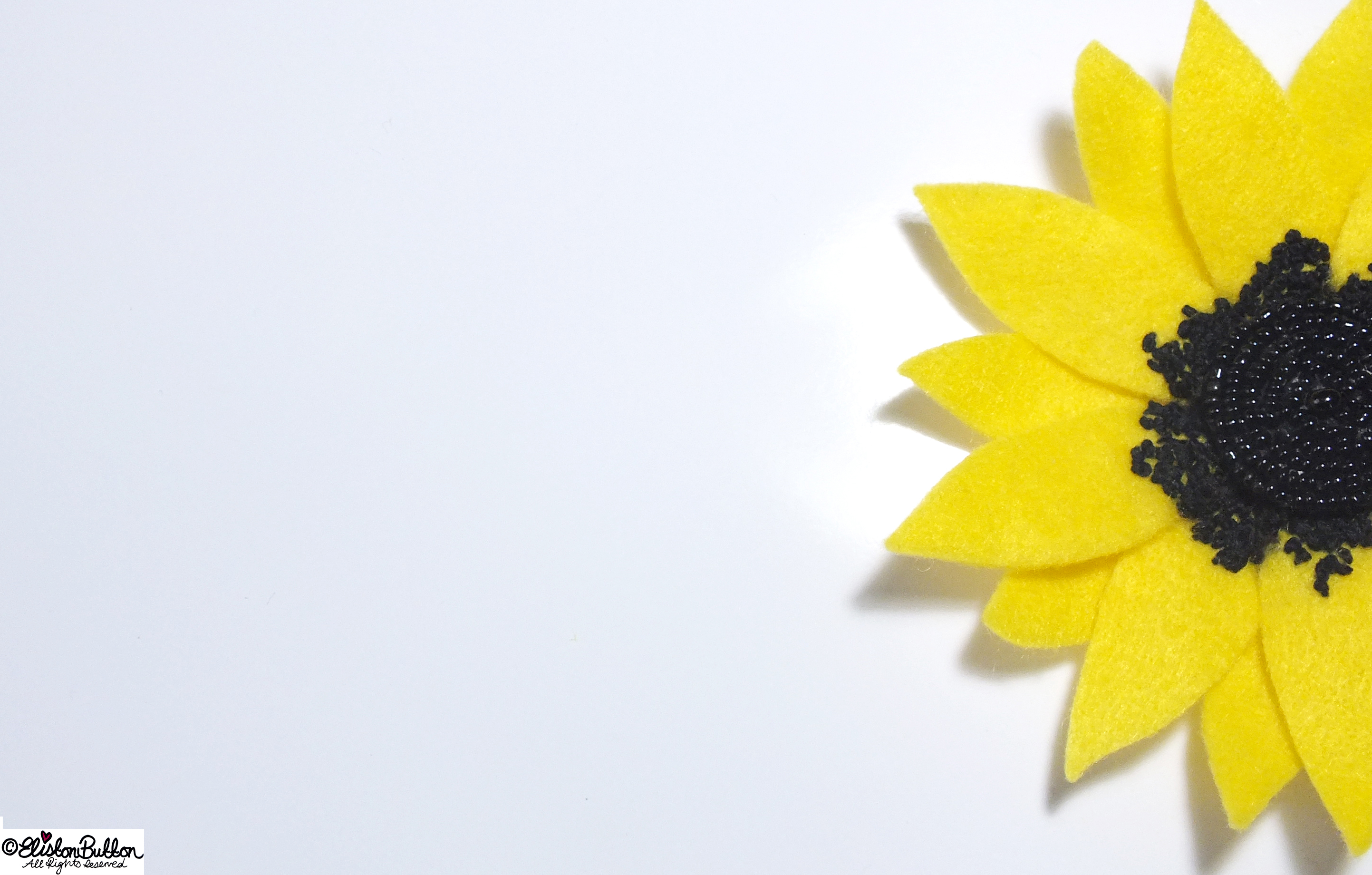 Sunny Days Happy Yellow Sunflower Embroidered Felt Flower Brooch - Petals - 27 Before 27 - Sunny Days at www.elistonbutton.com - Eliston Button - That Crafty Kid – Art, Design, Craft & Adventure.