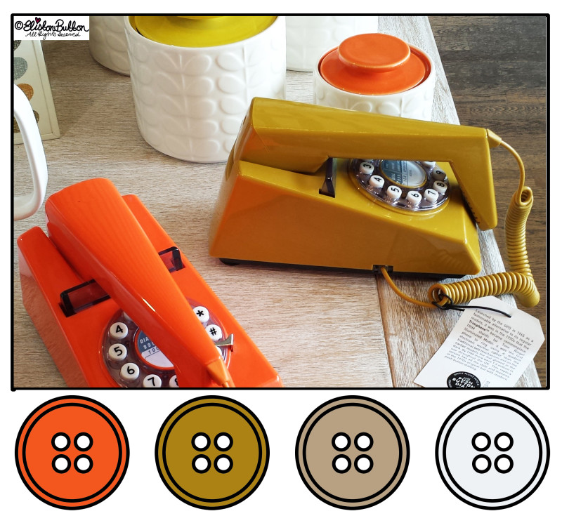 Retro Phones Button Colours - Button Colour Adventure at www.elistonbutton.com - Eliston Button - That Crafty Kid – Art, Design, Craft & Adventure.