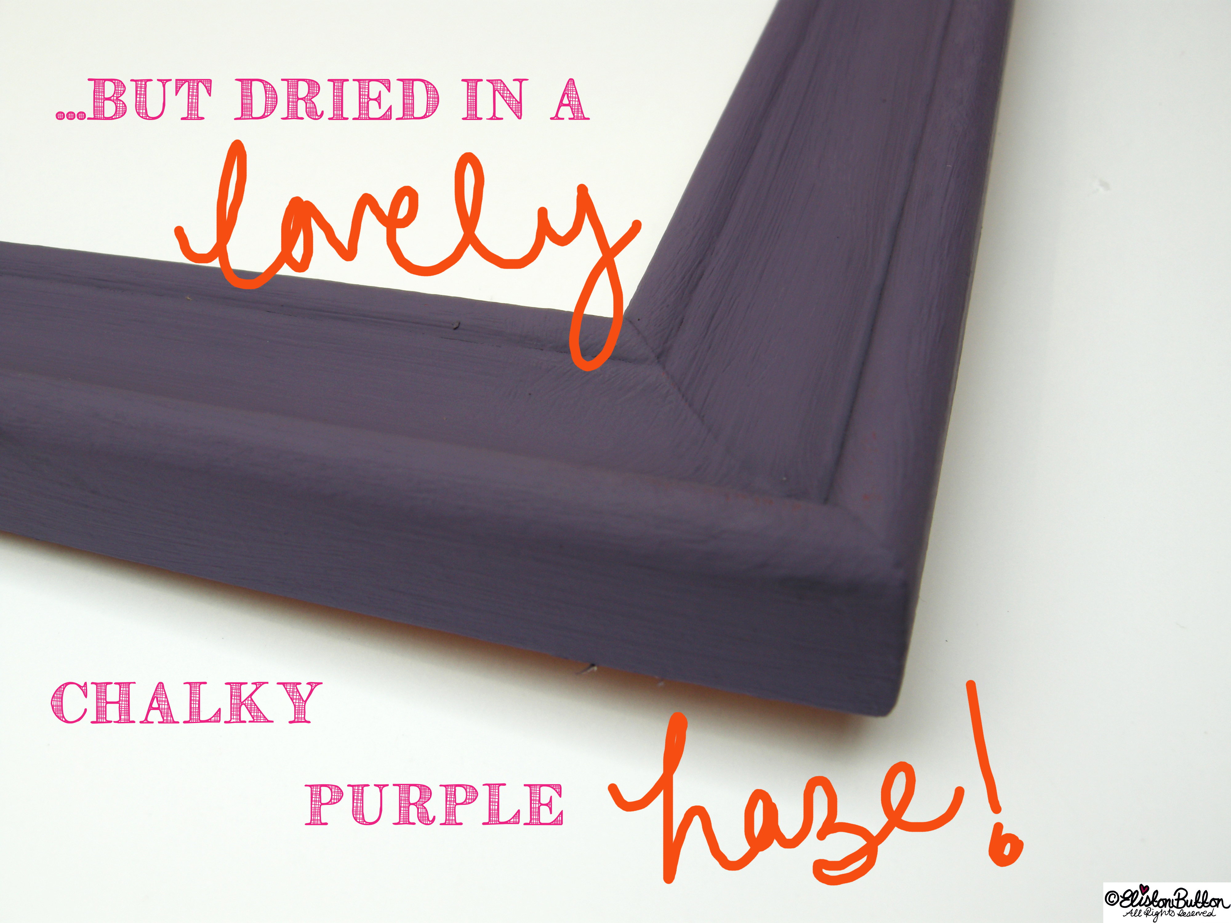 Chalky Purple Painted Frame - Tutorial Tuesday - Tote Bag Wall Art at www.elistonbutton.com - Eliston Button - That Crafty Kid – Art, Design, Craft & Adventure.