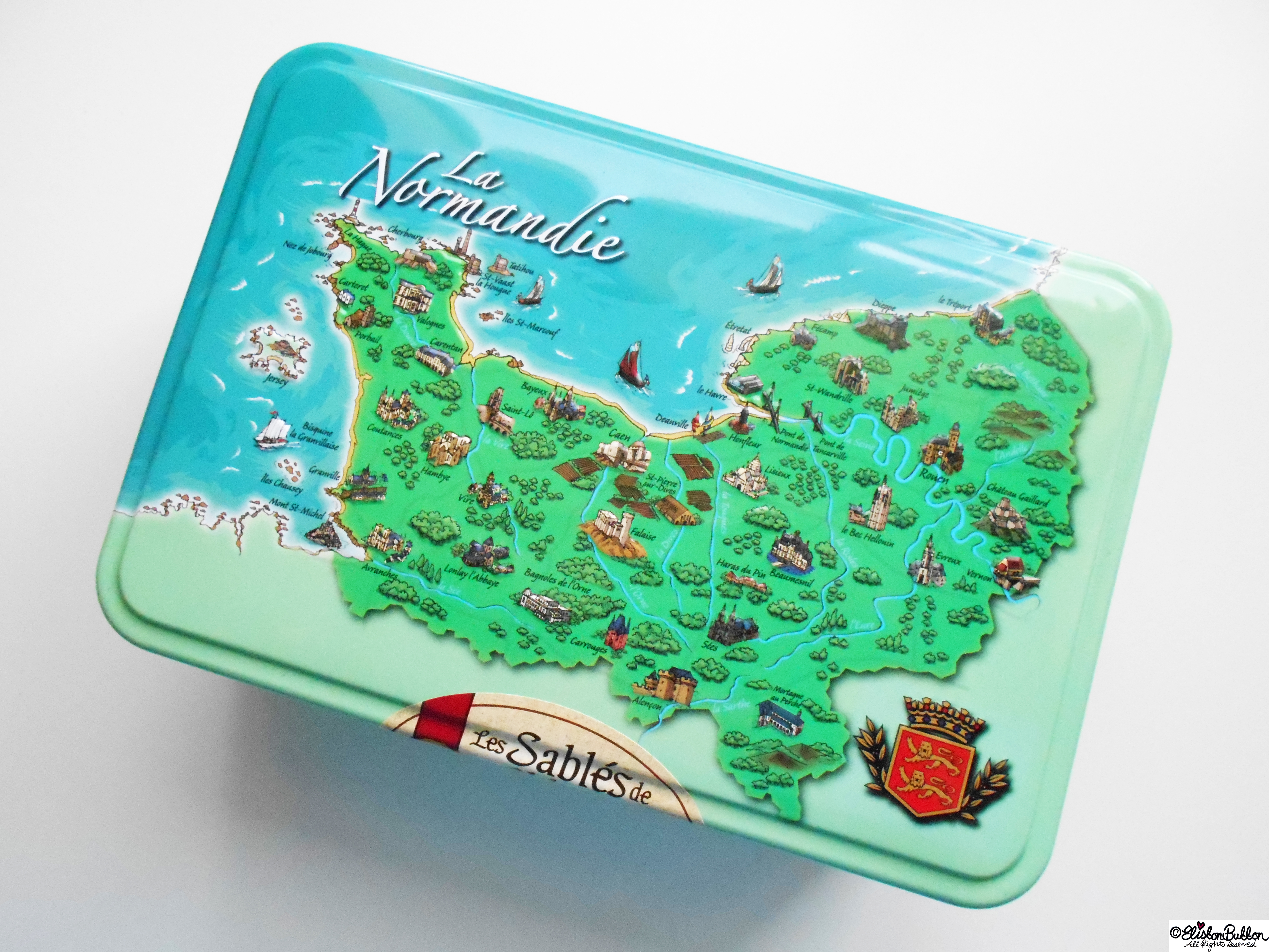 Normandy Biscuit Tin - Gifts from France at www.elistonbutton.com - Eliston Button - That Crafty Kid – Art, Design, Craft & Adventure.