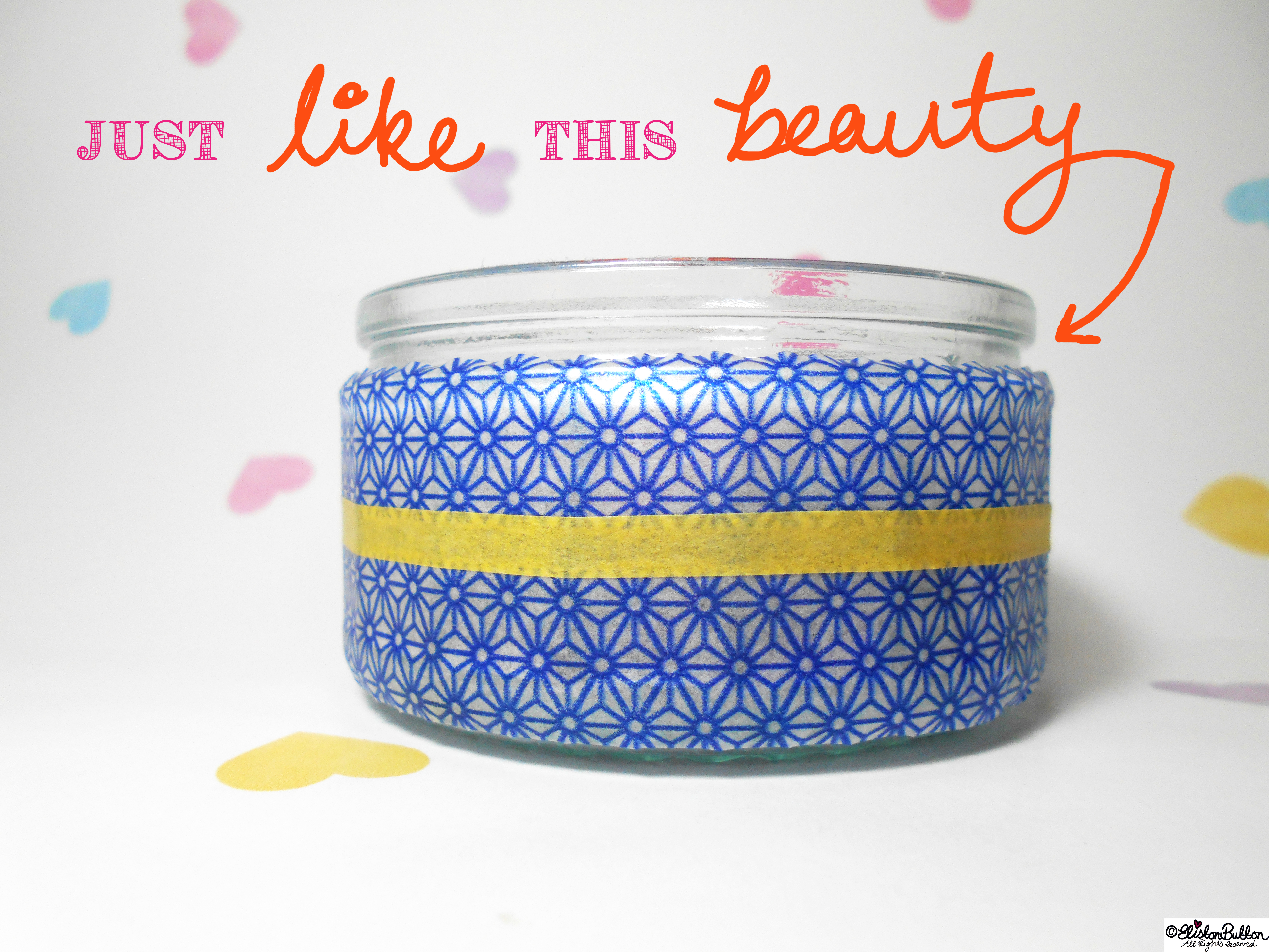 Washi Tape Covered Jar - Tutorial Tuesday - Washi Tape Pen Pots at www.elistonbutton.com - Eliston Button - That Crafty Kid – Art, Design, Craft & Adventure.