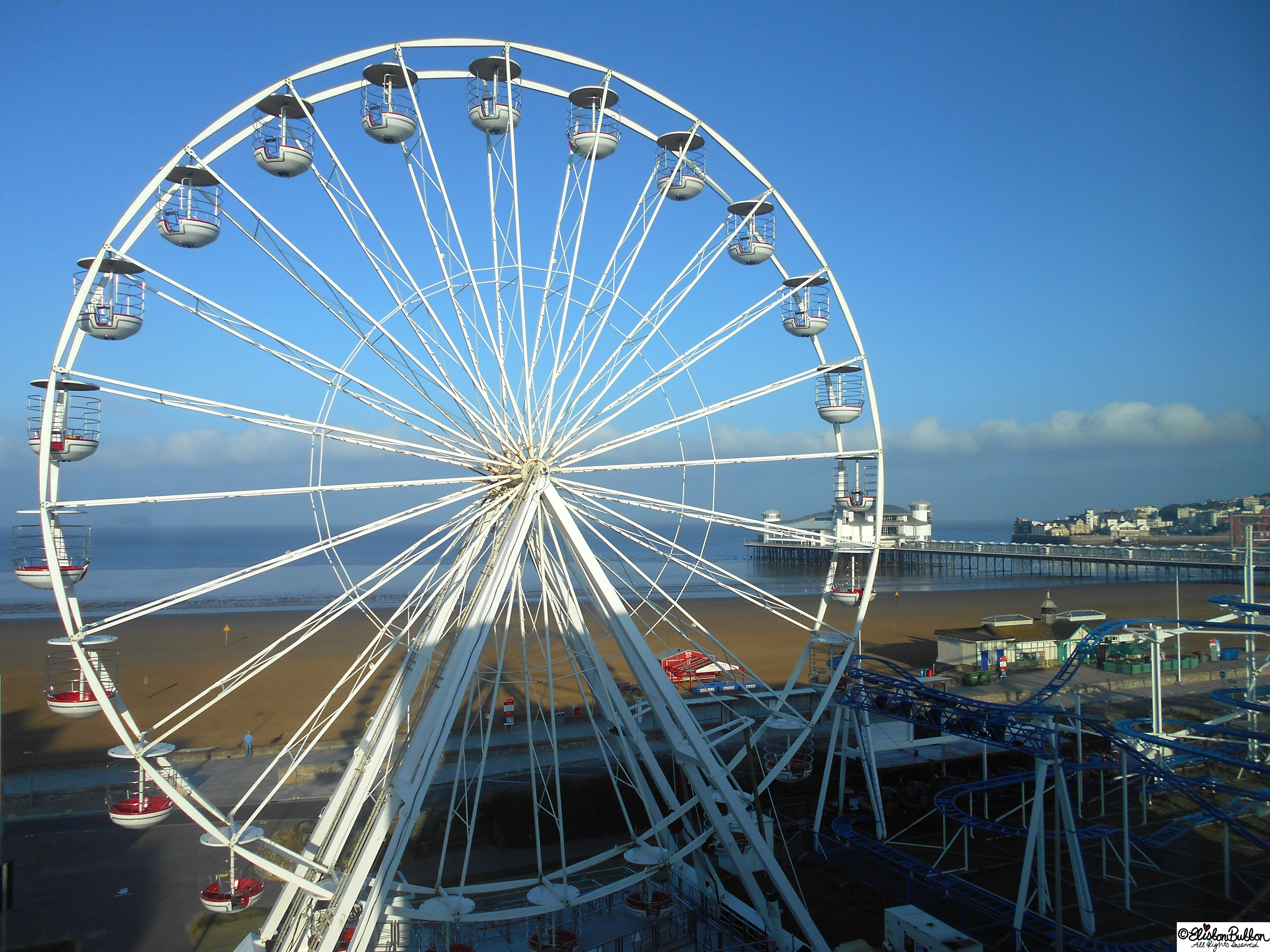 Weston-Super-Mare Ferris Wheel at Day - The Great British Seaside (and an Eliston Button Autumn Sale) at www.elistonbutton.com - Eliston Button - That Crafty Kid – Art, Design, Craft & Adventure.