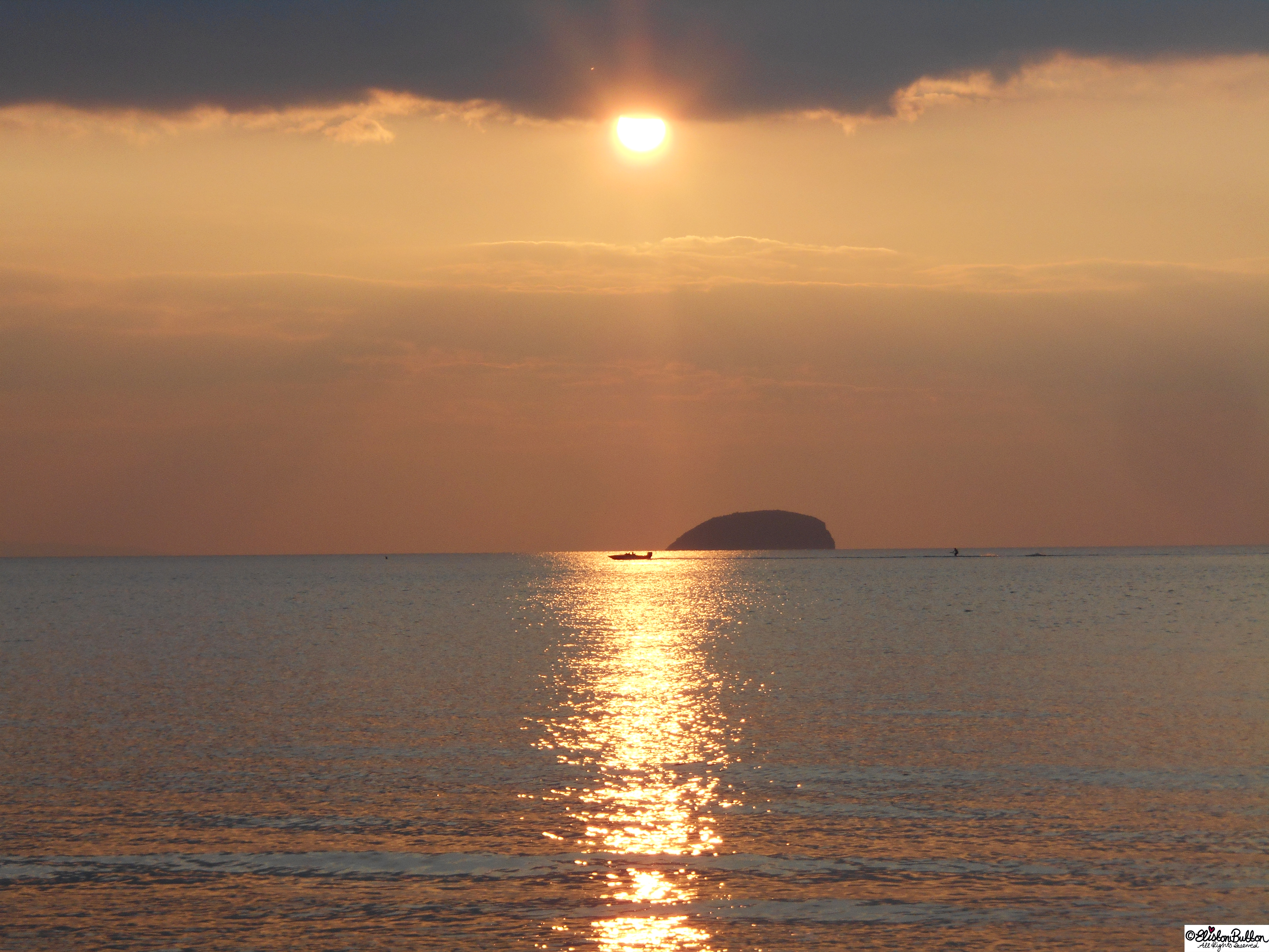 Steep Holm Sunset - The Great British Seaside (and an Eliston Button Autumn Sale) at www.elistonbutton.com - Eliston Button - That Crafty Kid – Art, Design, Craft & Adventure.