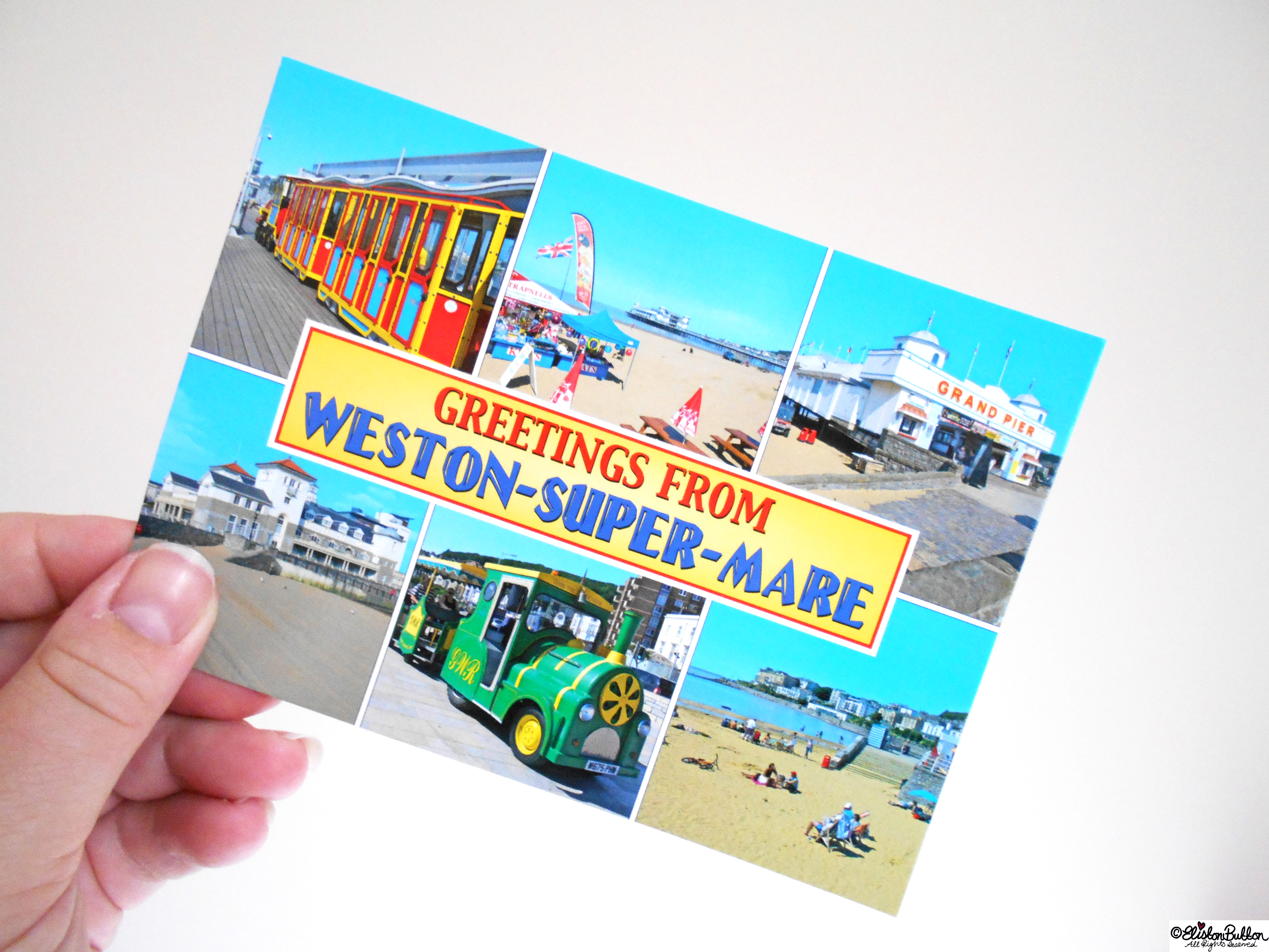 Weston-Super-Mare Postcard - The Great British Seaside (and an Eliston Button Autumn Sale) at www.elistonbutton.com - Eliston Button - That Crafty Kid – Art, Design, Craft & Adventure.