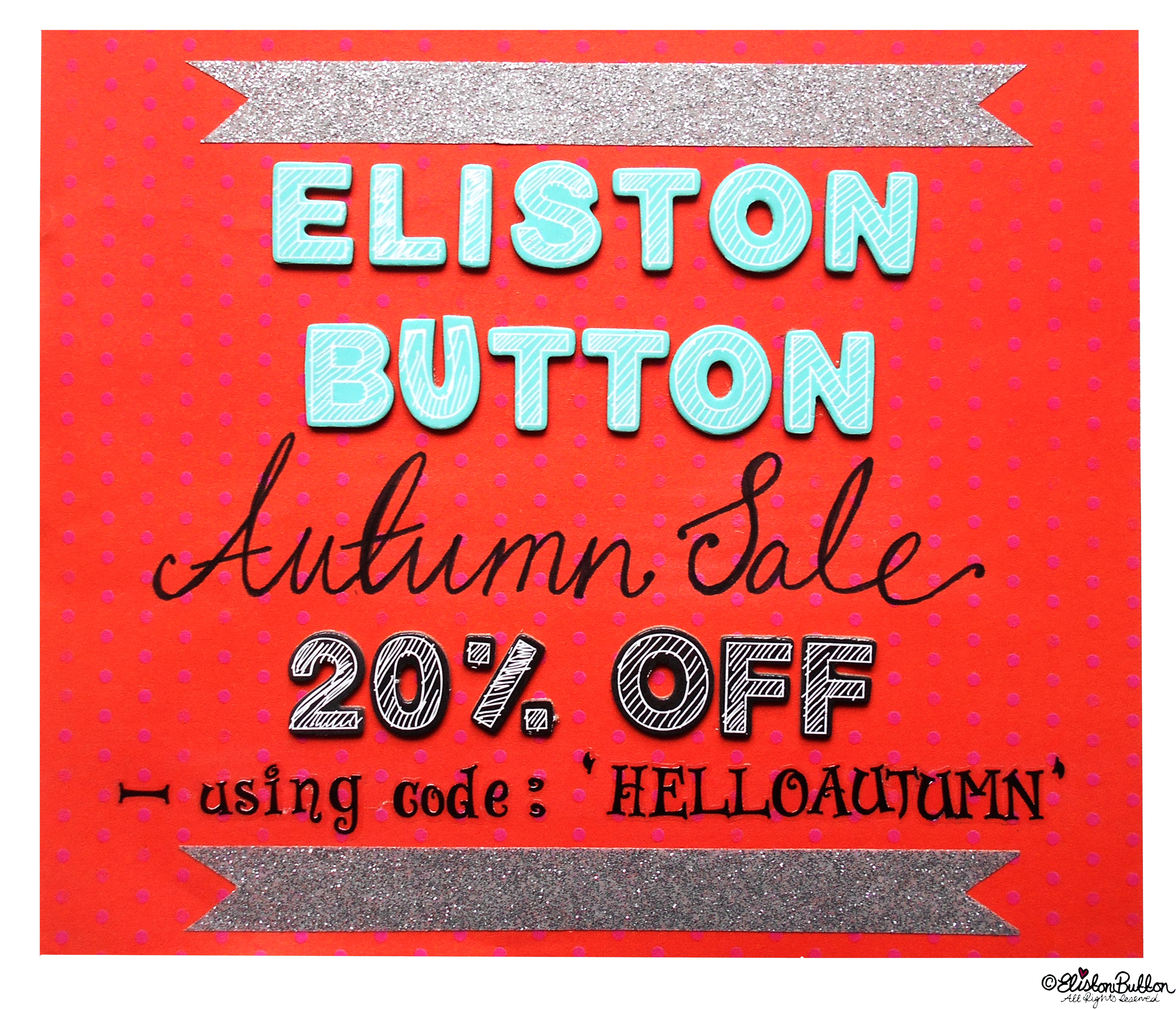 Eliston Button Autumn Sale 2014 - The Great British Seaside (and an Eliston Button Autumn Sale) at www.elistonbutton.com - Eliston Button - That Crafty Kid – Art, Design, Craft & Adventure.