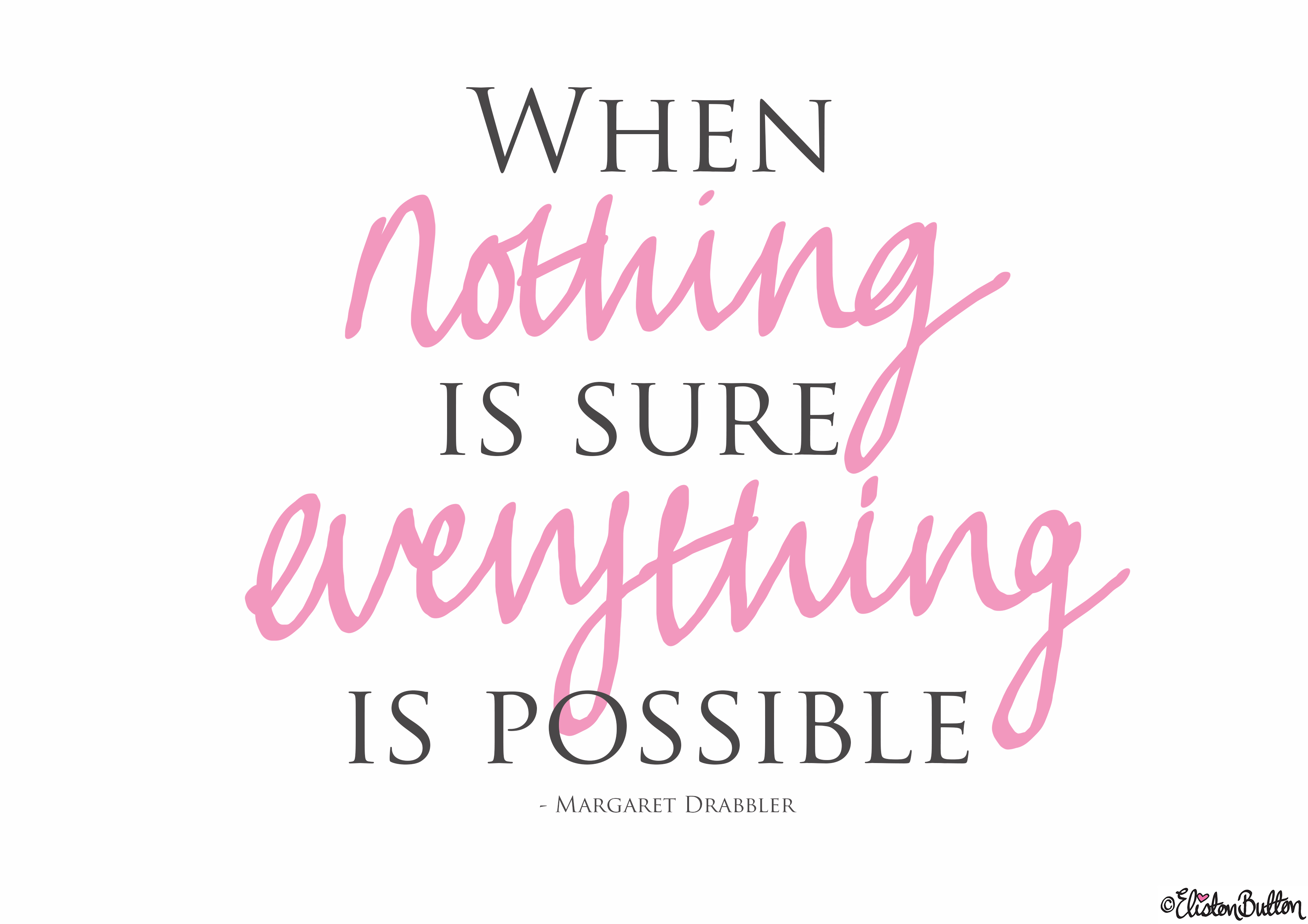 Anything is Possible Quote - Create 28 - A New Eliston Button Blog Challenge! at www.elistonbutton.com - Eliston Button - That Crafty Kid – Art, Design, Craft & Adventure.