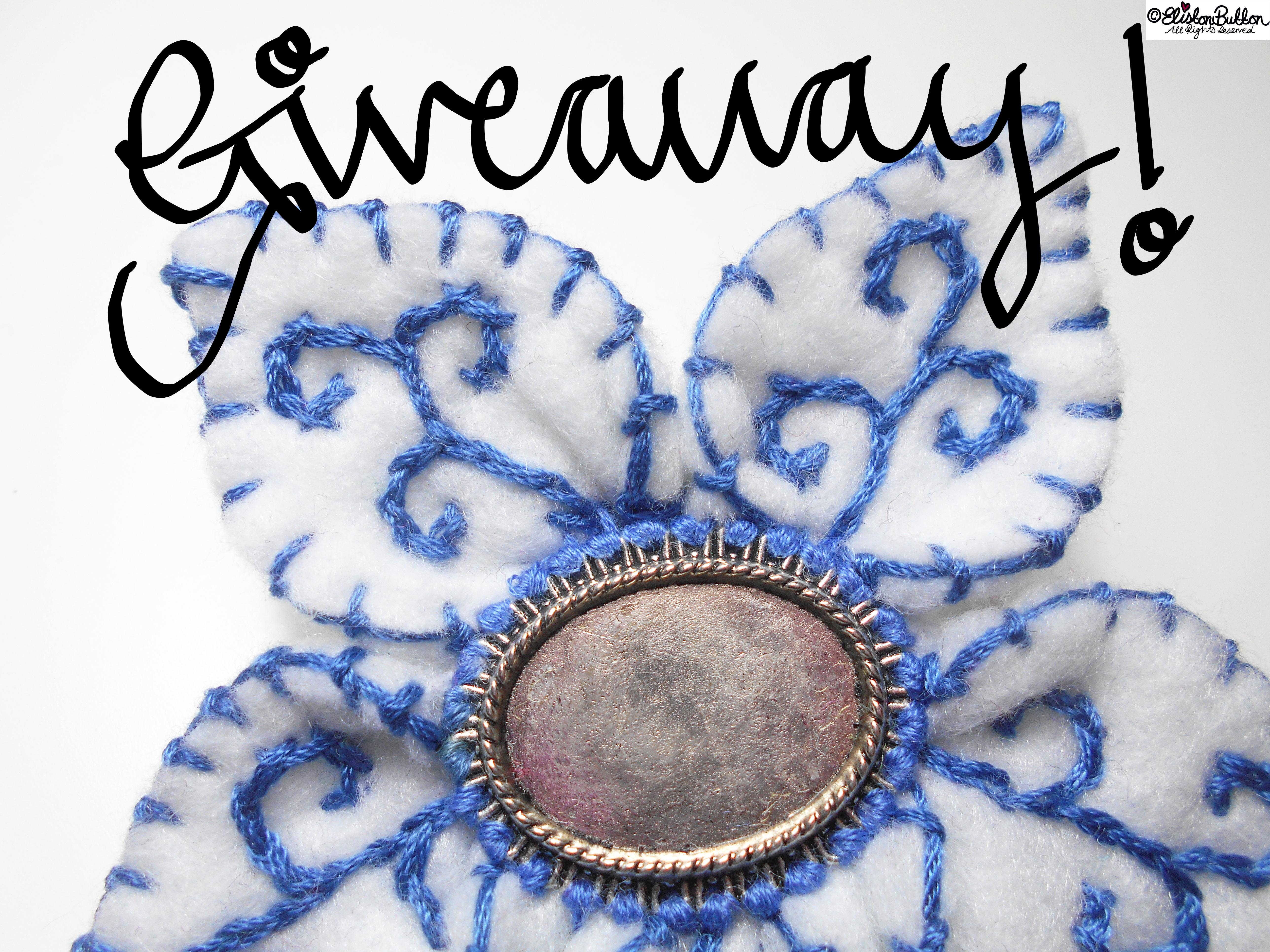 Blue and White Brooch Giveaway! - Eliston Button is One Year Old! (And a Giveaway!!) at www.elistonbutton.com - Eliston Button - That Crafty Kid – Art, Design, Craft & Adventure.