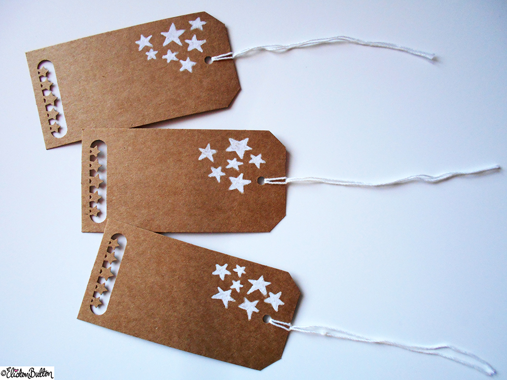Star Hand Illustrated and Punched Gift Tags - Create 28 -No.1- Gift Tags at www.elistonbutton.com - Eliston Button - That Crafty Kid – Art, Design, Craft & Adventure.