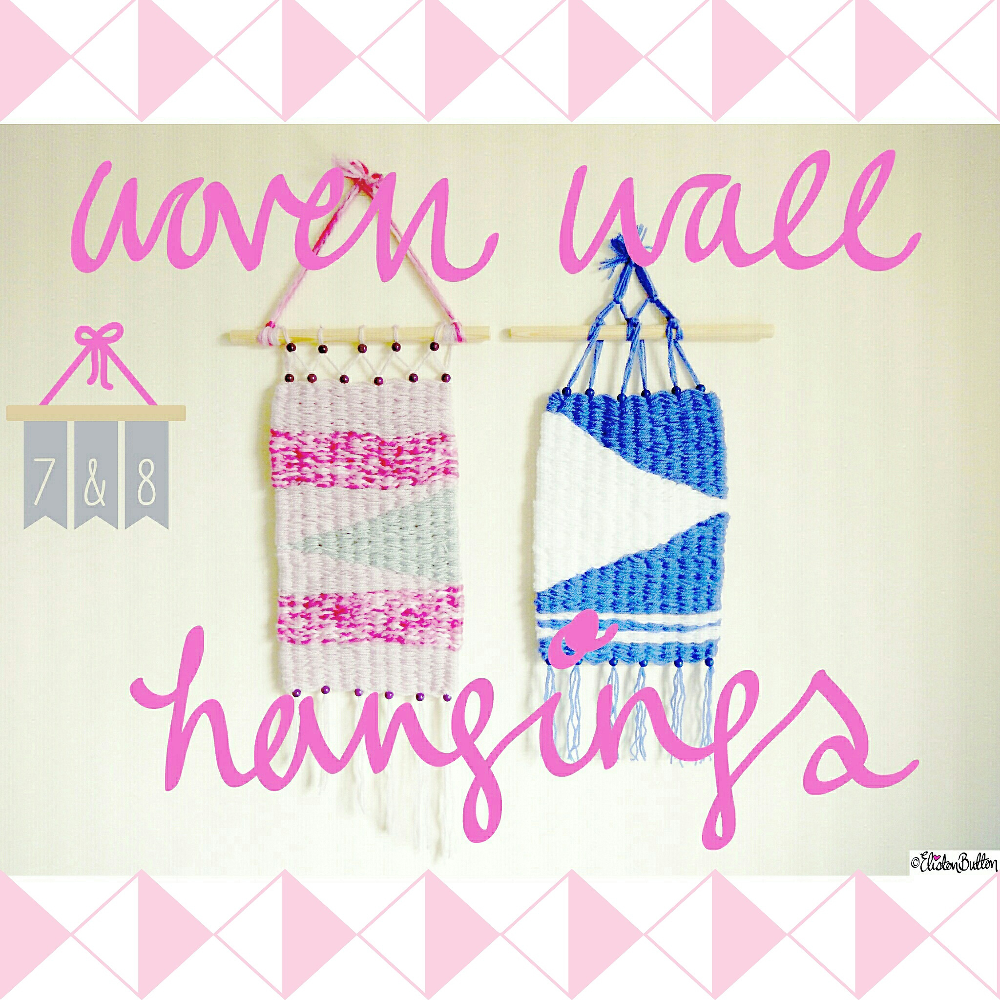 Woven Wall Hangings - Around Here...March 2015 at www.elistonbutton.com - Eliston Button - That Crafty Kid – Art, Design, Craft & Adventure.